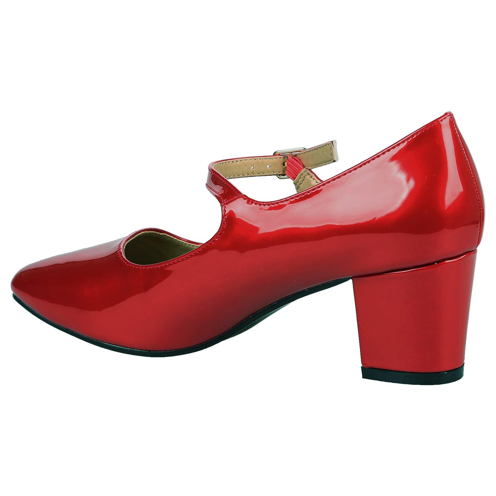 e75de4433b Xanthe Womens Low Mid Block Heels Mary Janes Smart Ladies Court ...