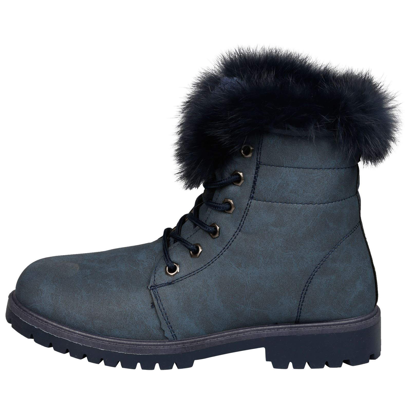 NEW-WOMEN-SHOES-LADIES-FUR-LINED-LOW-HEEL-LACE-UP-ANKLE-BOOTS-CASUAL-STYLE-SIZE thumbnail 24