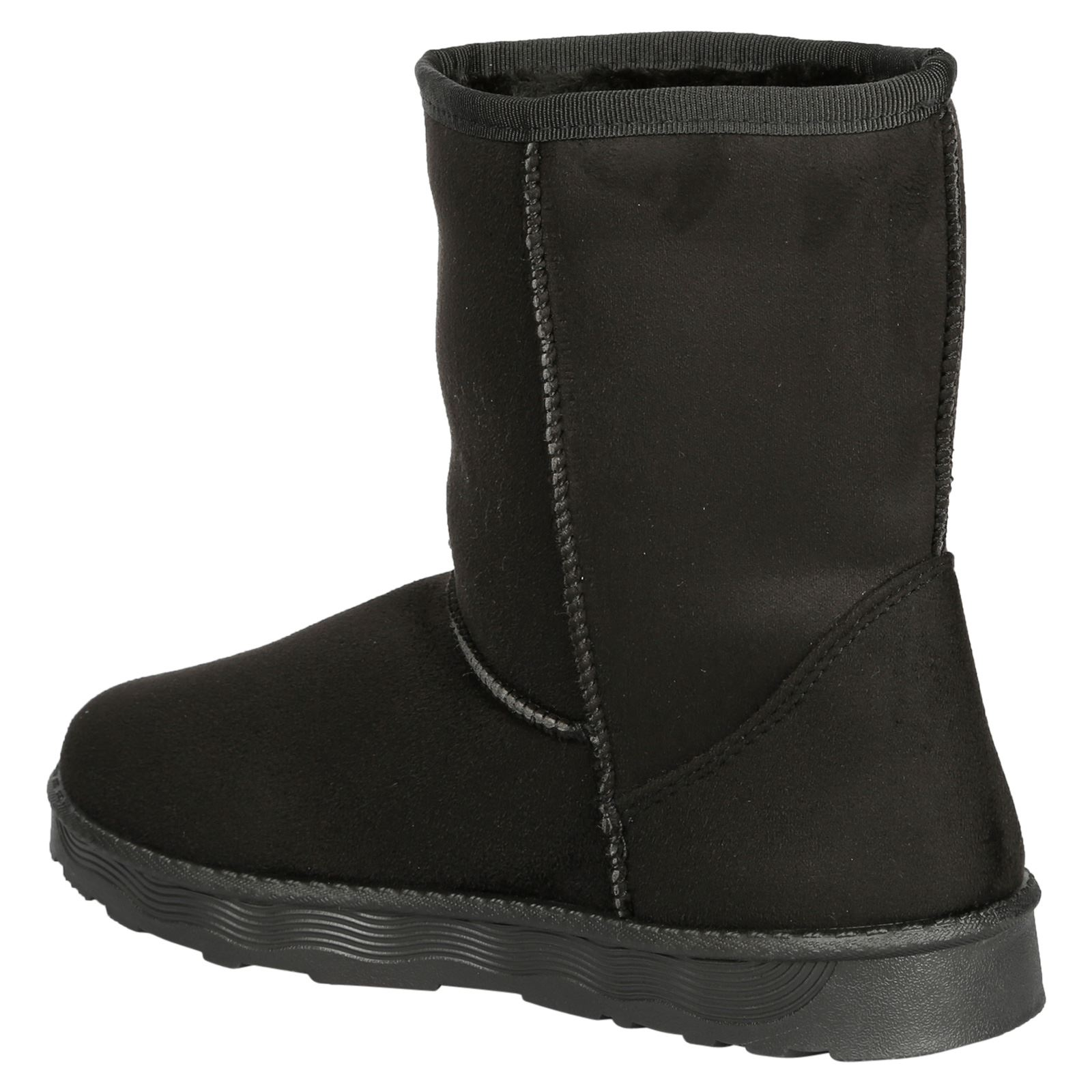 Paisleigh-Womens-Platfrom-Flat-Fur-Lined-Pull-On-Snug-Snow-Boots-Casual-Ladies thumbnail 5