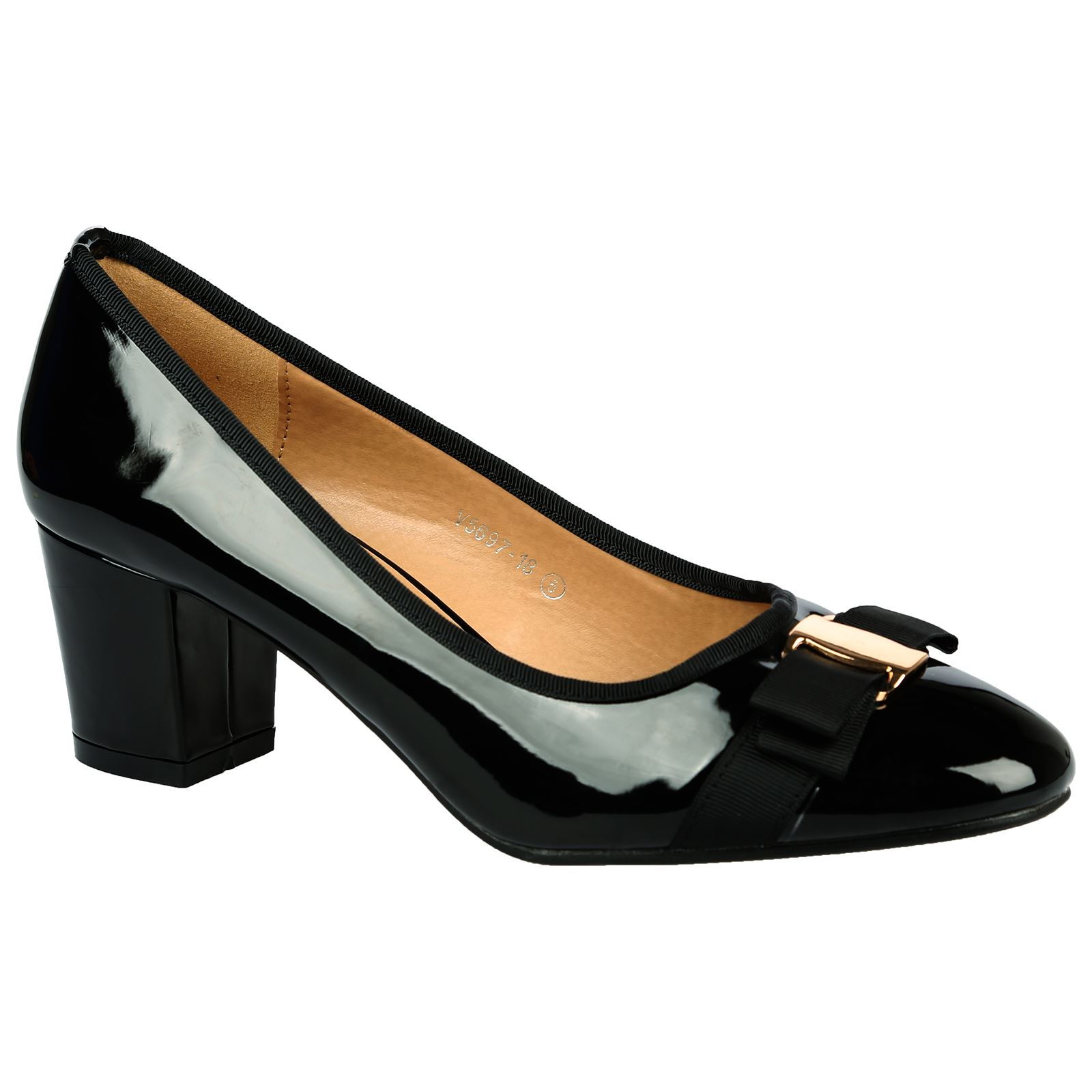Cherie Mujer Low Mid Heels Bow Detail Slip On Ladies New Court Zapatos Pumps Talla New Ladies e4db1a