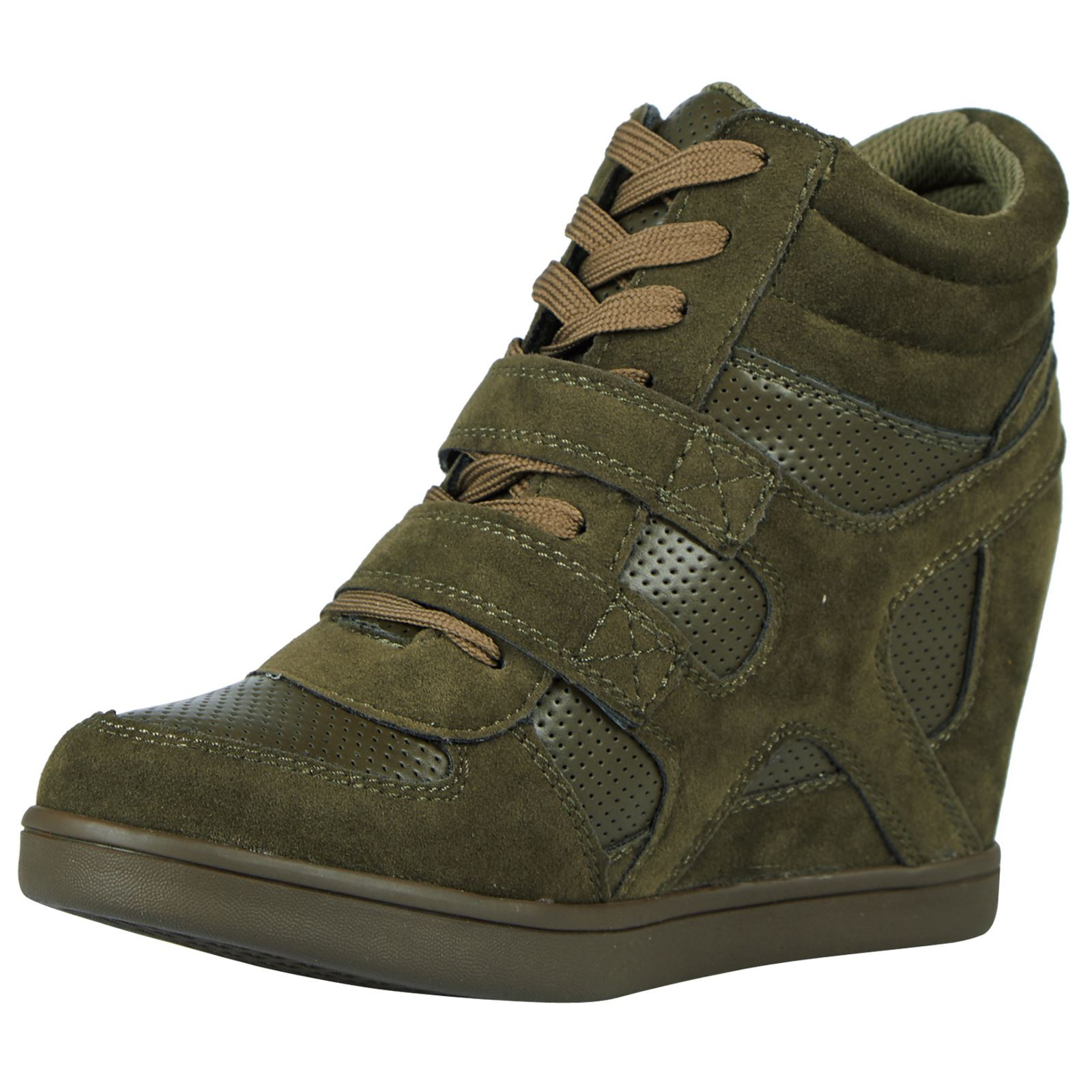 Thea-Womens-Concealed-Wedges-Heels-Trainers-Ladies-High-Top-Shoes-Pumps-Size-New