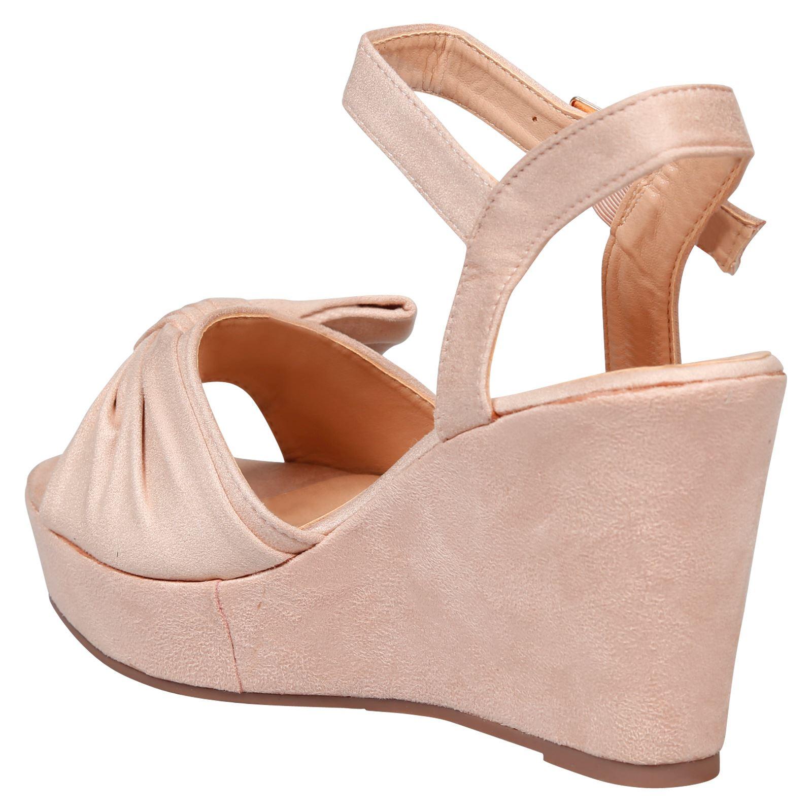 dfd8af0ad55c Details about Elora Ladies Shoes High Wedges Heels Platforms Womens Fashion  Sandals Shoes Size