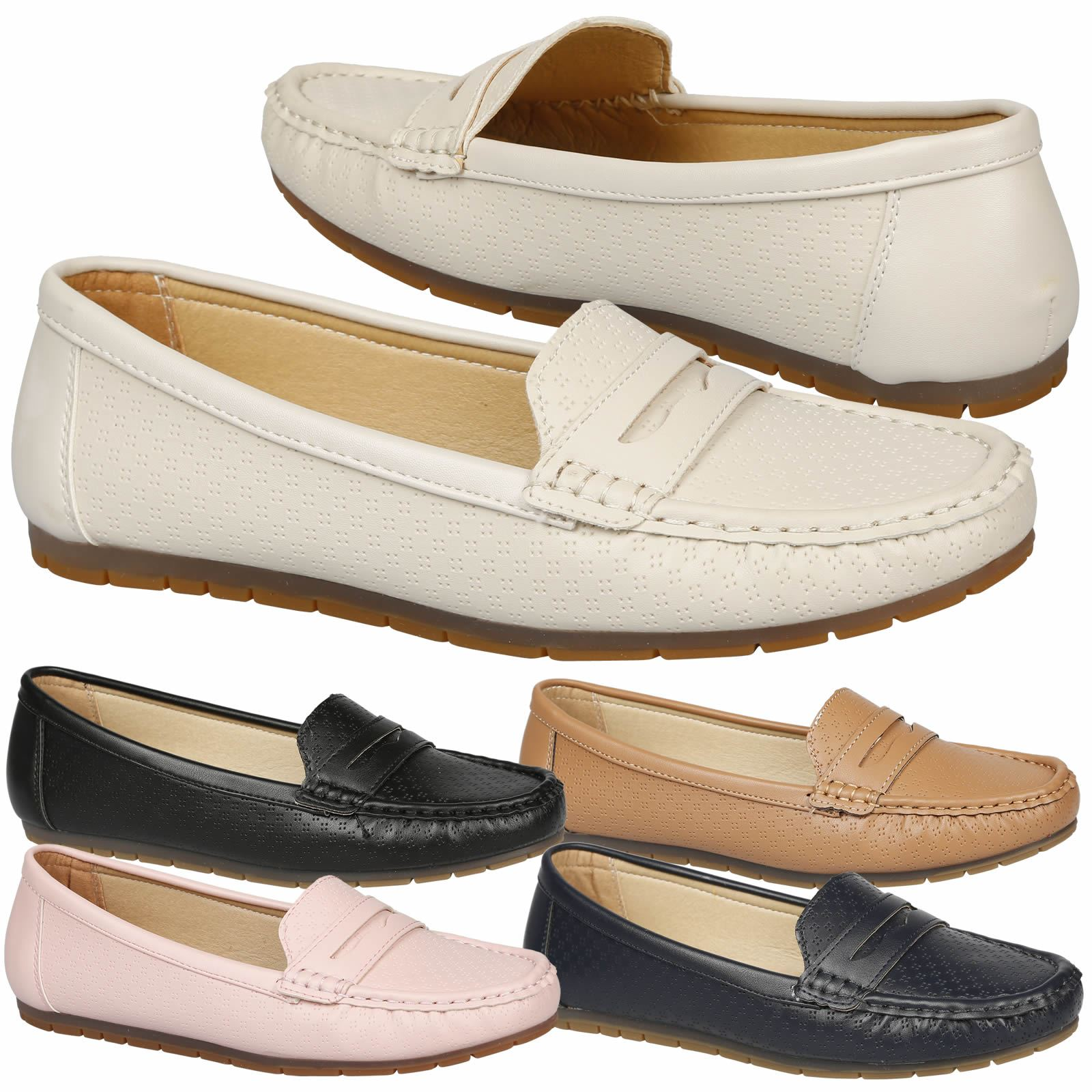 Details About Celinda Womens Comfortable Loafers Shoes Cushioned Sole Moccasins Loafers Flats