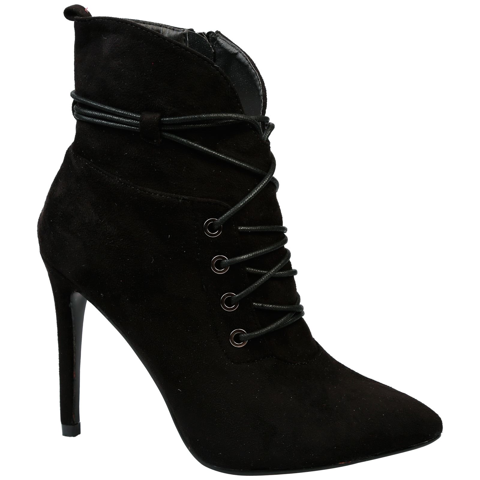 Office Suede Stiletto Heeled Anckle Boots. Size 5