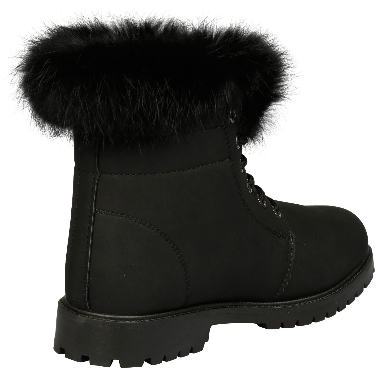 NEW-WOMEN-SHOES-LADIES-FUR-LINED-LOW-HEEL-LACE-UP-ANKLE-BOOTS-CASUAL-STYLE-SIZE thumbnail 10