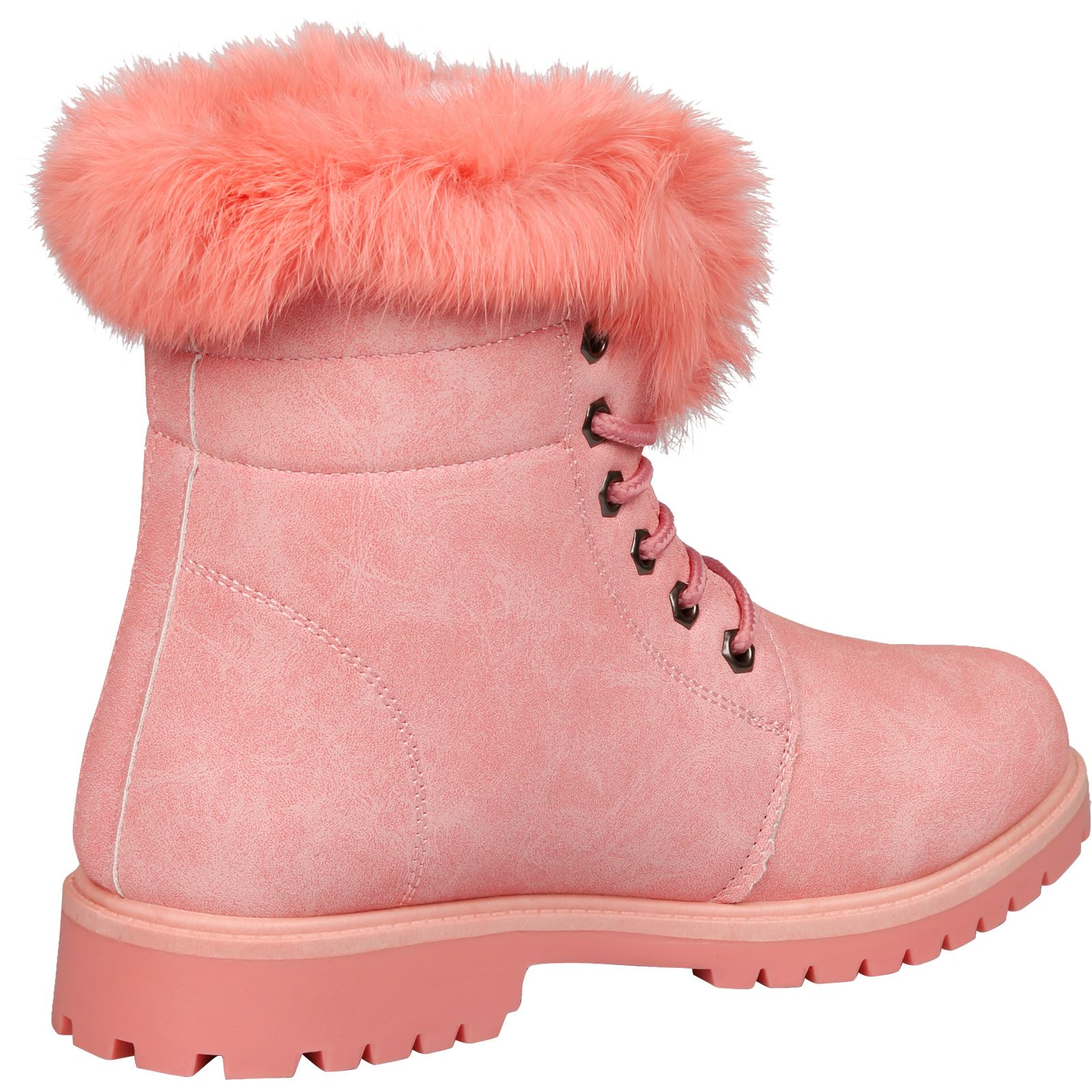 NEW-WOMEN-SHOES-LADIES-FUR-LINED-LOW-HEEL-LACE-UP-ANKLE-BOOTS-CASUAL-STYLE-SIZE thumbnail 18