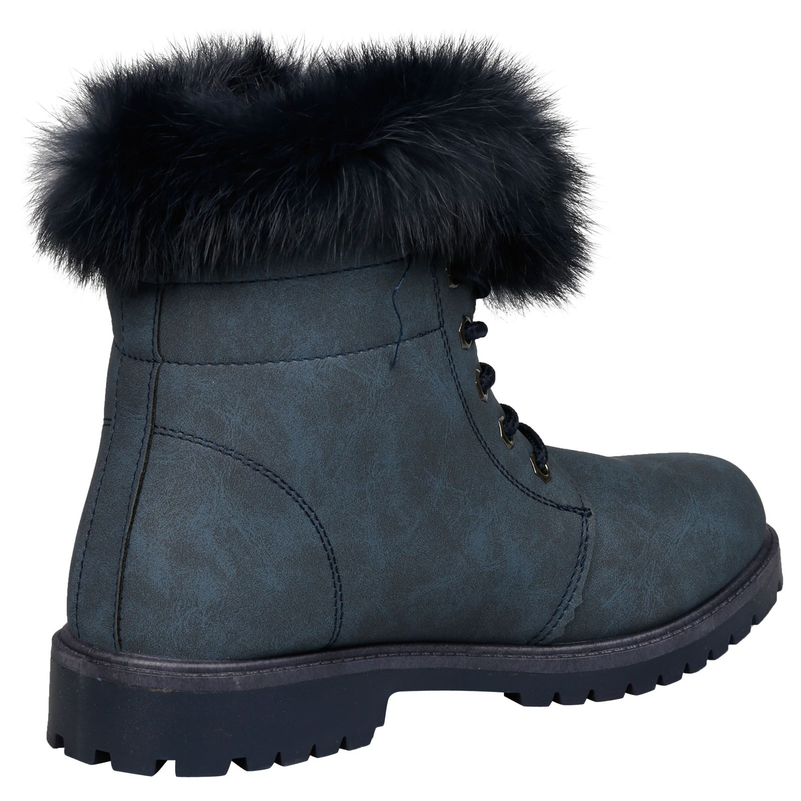 NEW-WOMEN-SHOES-LADIES-FUR-LINED-LOW-HEEL-LACE-UP-ANKLE-BOOTS-CASUAL-STYLE-SIZE thumbnail 26