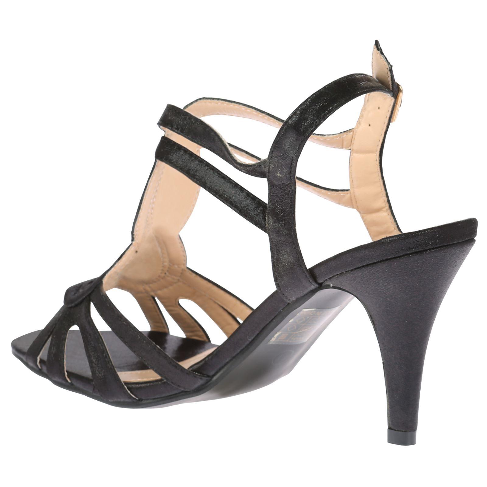 may womens mid high heels slim shimmer peep toe sandals