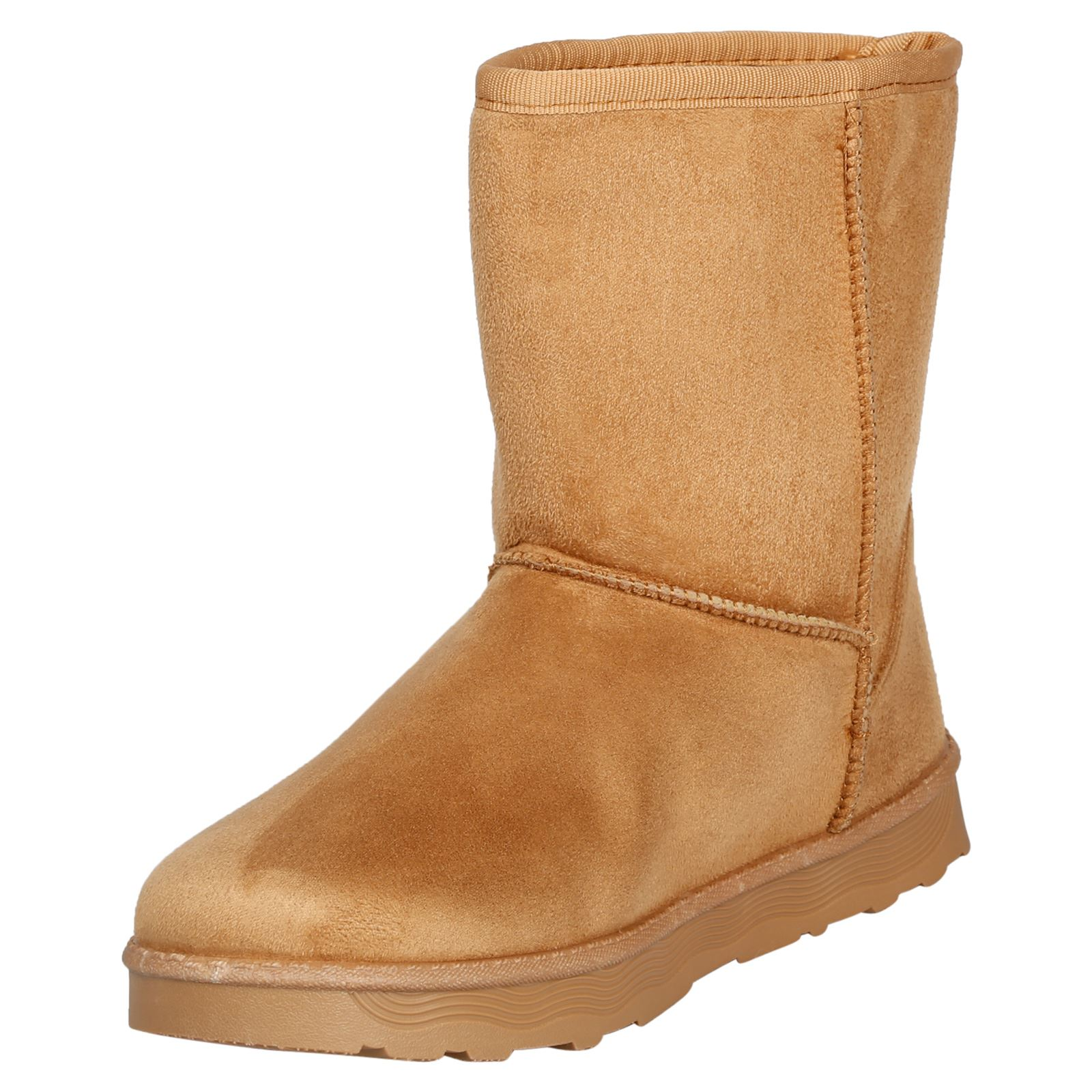Paisleigh-Womens-Platfrom-Flat-Fur-Lined-Pull-On-Snug-Snow-Boots-Casual-Ladies thumbnail 8