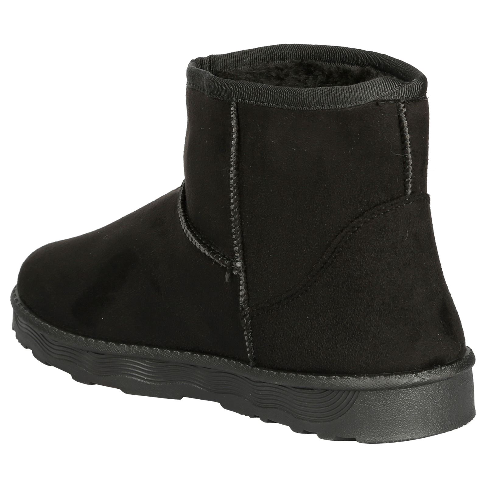 Naomi-Womens-Platfrom-Flat-Fur-Lined-Pull-On-Snug-Snow-Boots-Casual-Ladies-Size thumbnail 5