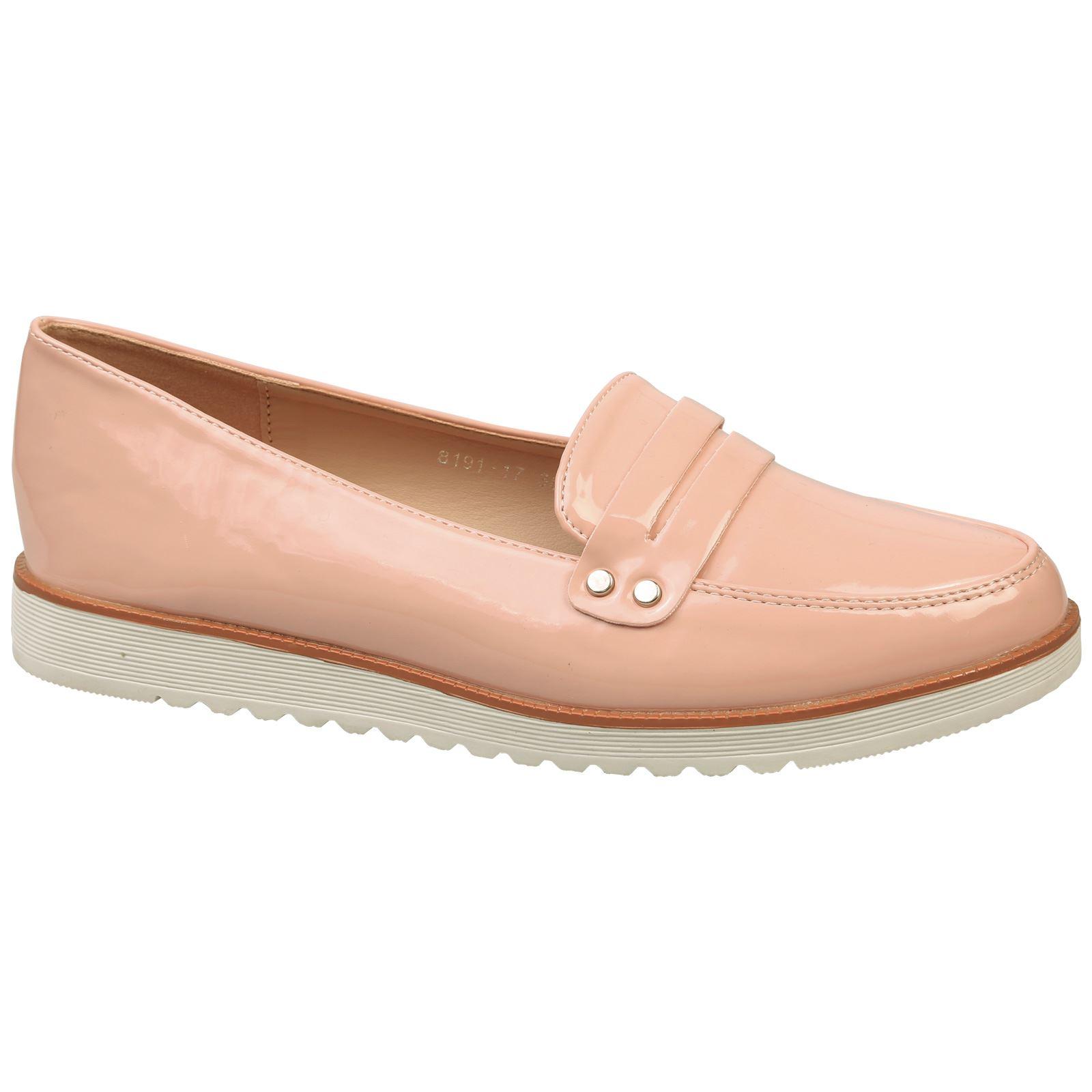 Femmeon  s plat mocassins sur mesdames glisse sur mocassins talons bas flatform chaussures taille nouveau style f000ee