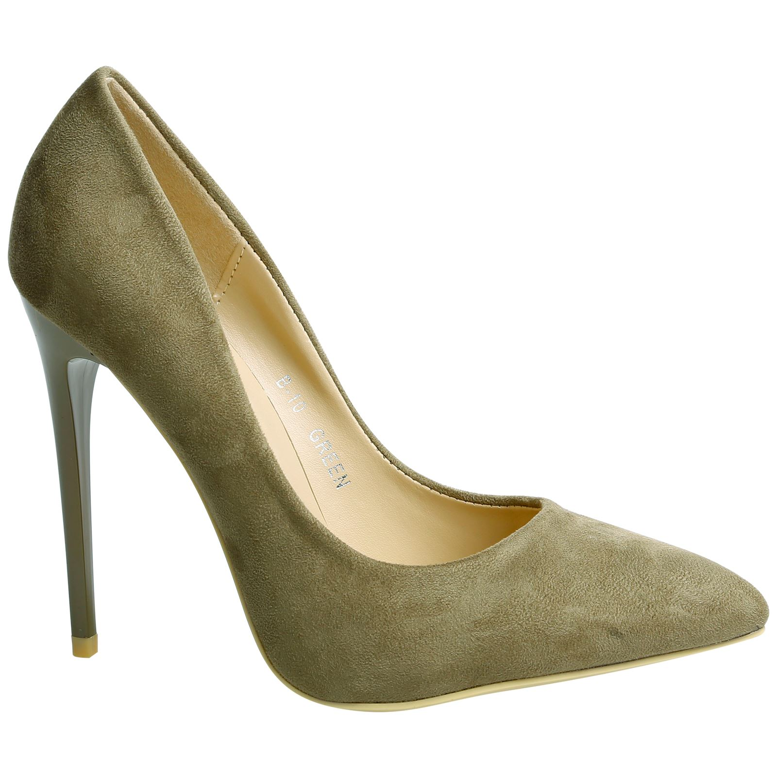 Grey Suede Court Shoes Womens