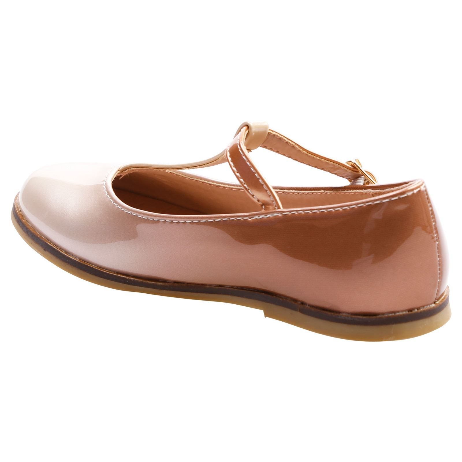 Maisey Girls Kids Flat Low Heel Ballerinas Pumps T Bar Mary Janes Shoes Size New