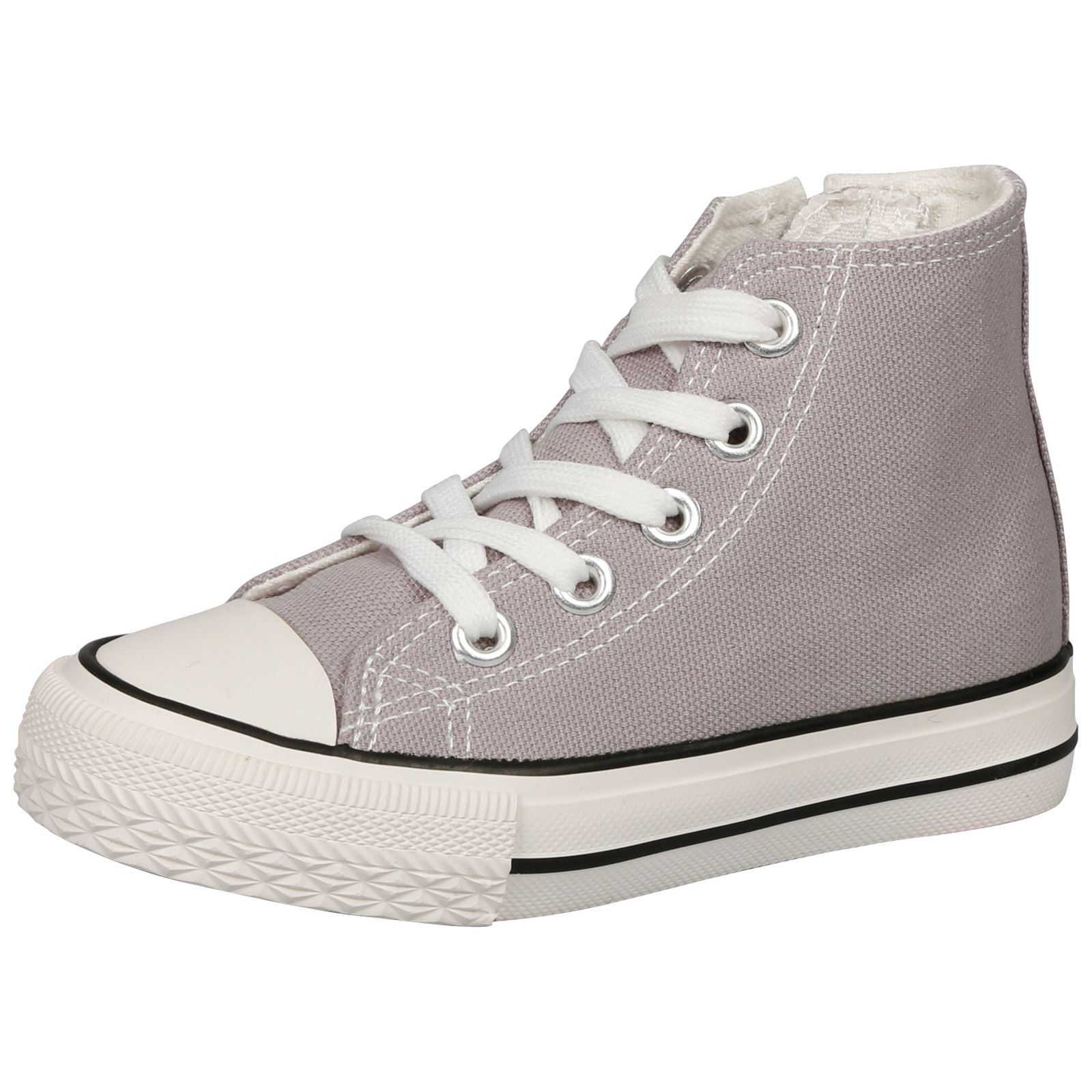 NEW GIRLS SHOES KIDS CANVAS TRAINERS FLATFROM FLATS LACE UP ZIP UP ...