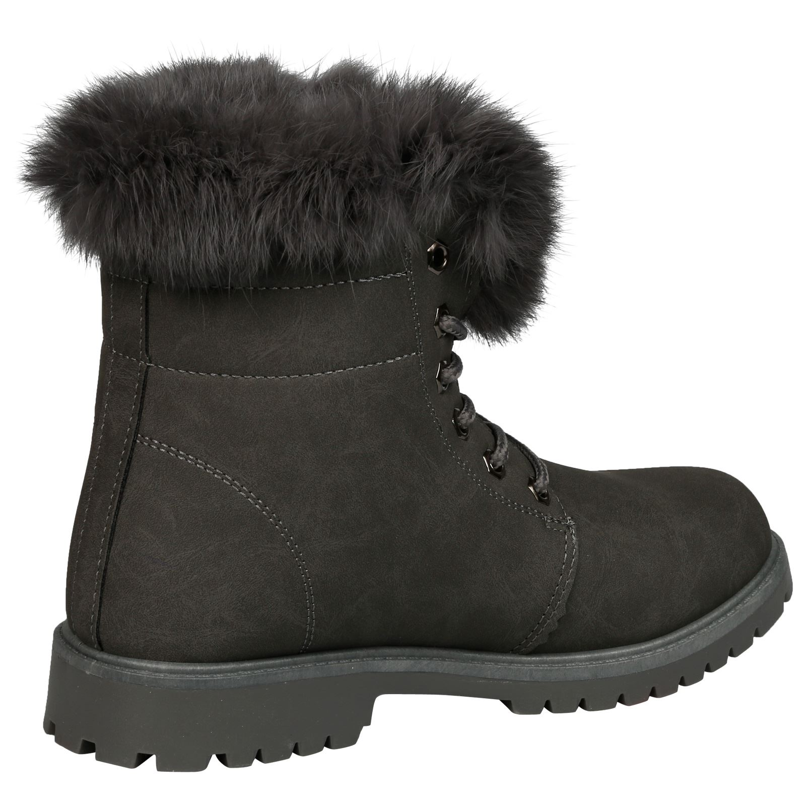 NEW-WOMEN-SHOES-LADIES-FUR-LINED-LOW-HEEL-LACE-UP-ANKLE-BOOTS-CASUAL-STYLE-SIZE thumbnail 22