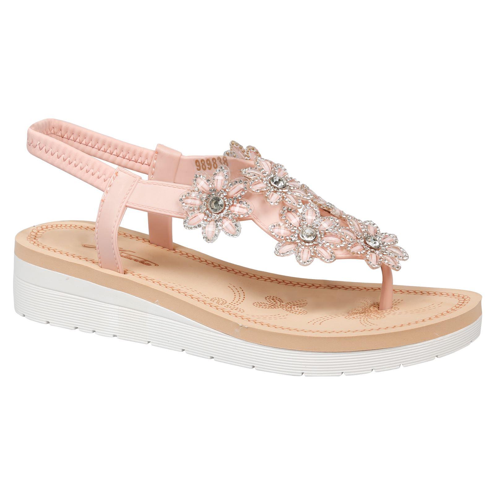 SUMMERY Damen Sandale, Pink, 37 EU