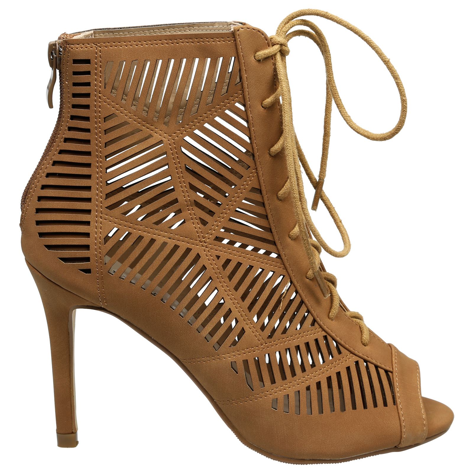 Anais-Womens-High-Heels-Stilettos-Lace-Up-Peep-Toe-Ankle-Boots-Ladies-Shoes-Size