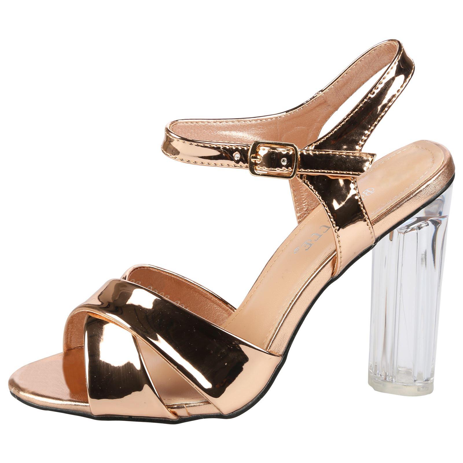 womens sandals clear heel fashion perspex