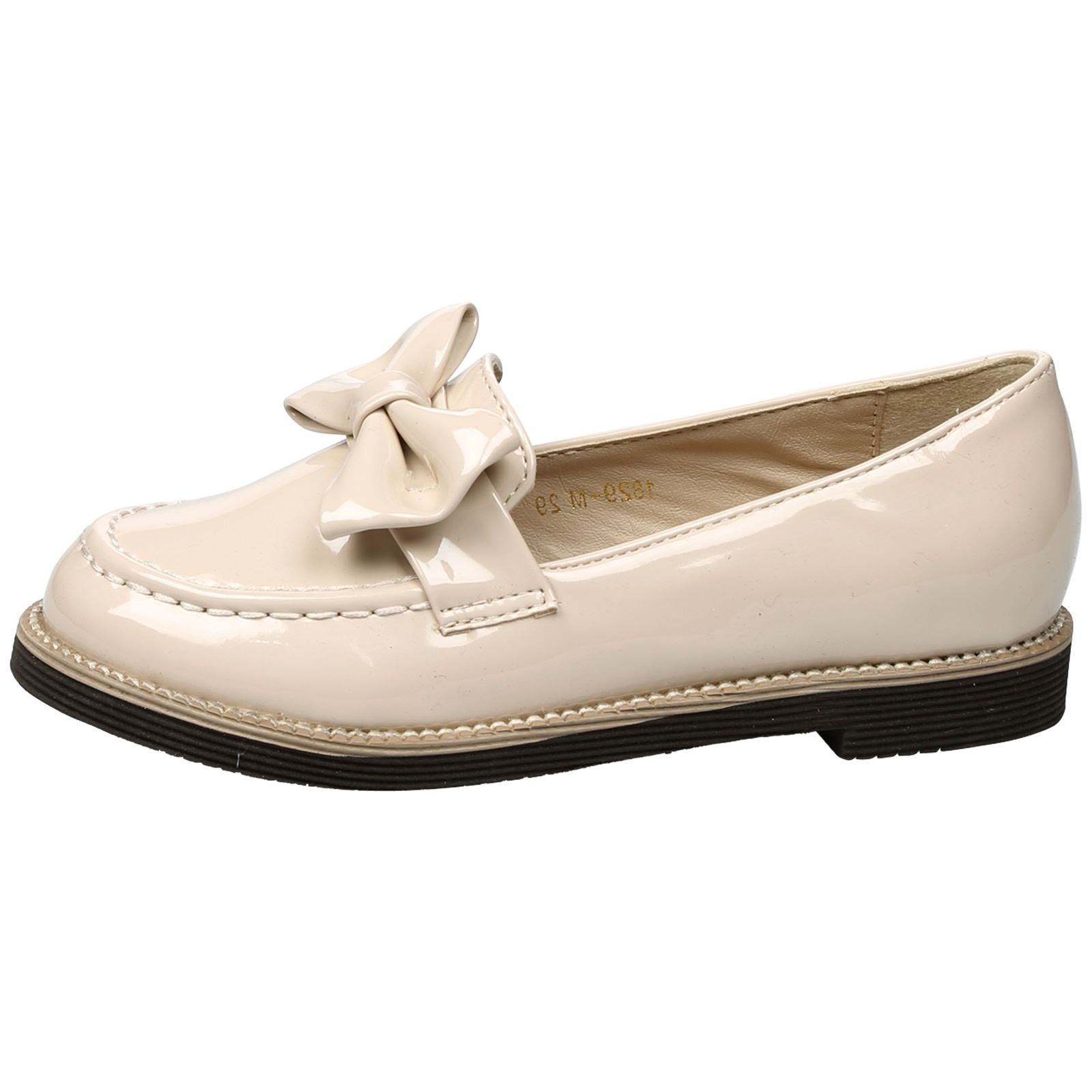 KIDS GIRLS CHILDRENS SHOES PUMPS LOAFERS BROGUE SCHOOL SMART BOW FLATS SIZE NEW