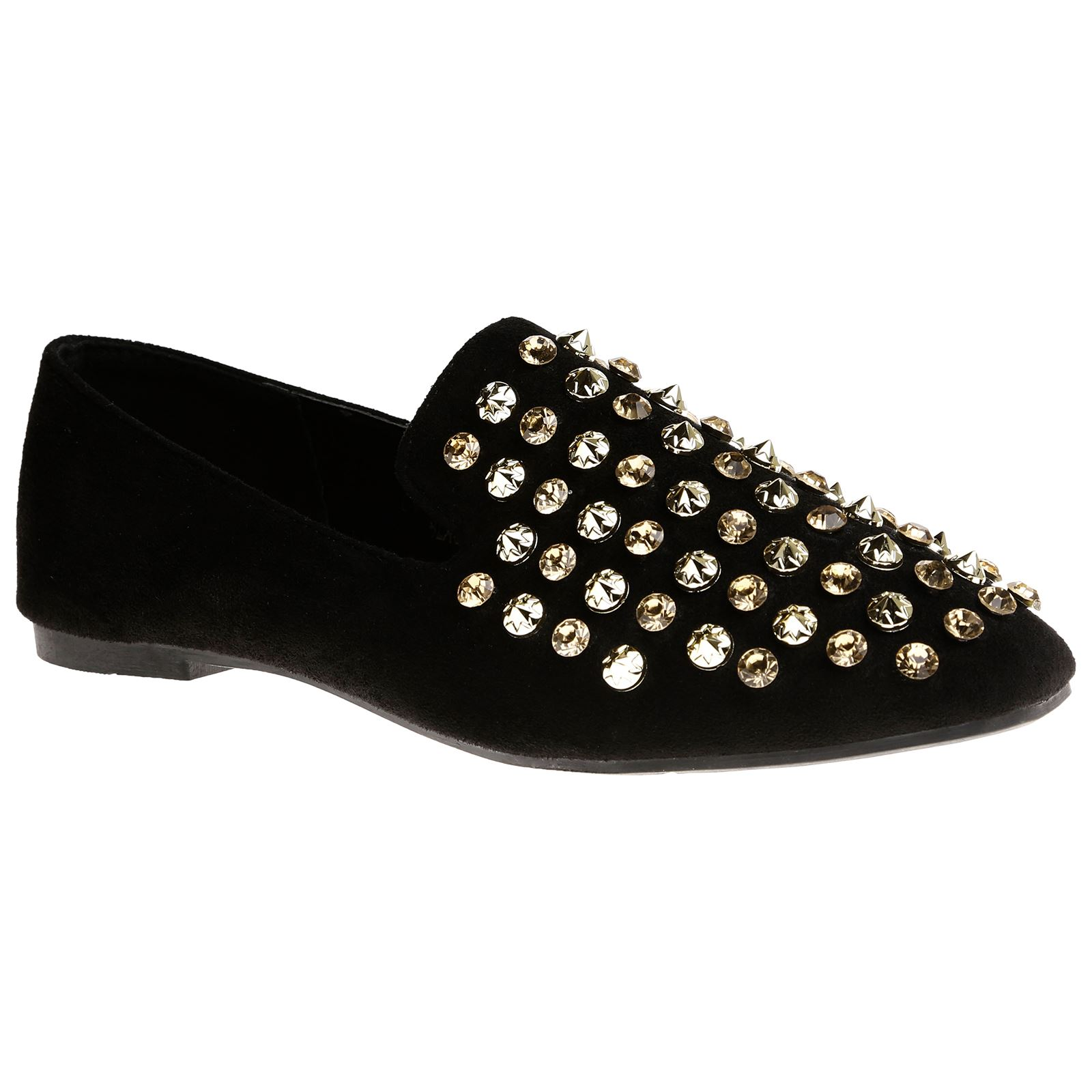 Dani Mujer Zapatos Flats Low Heels Studded Fringe Loafers Ladies Zapatos Mujer Buckle Talla New d475cf