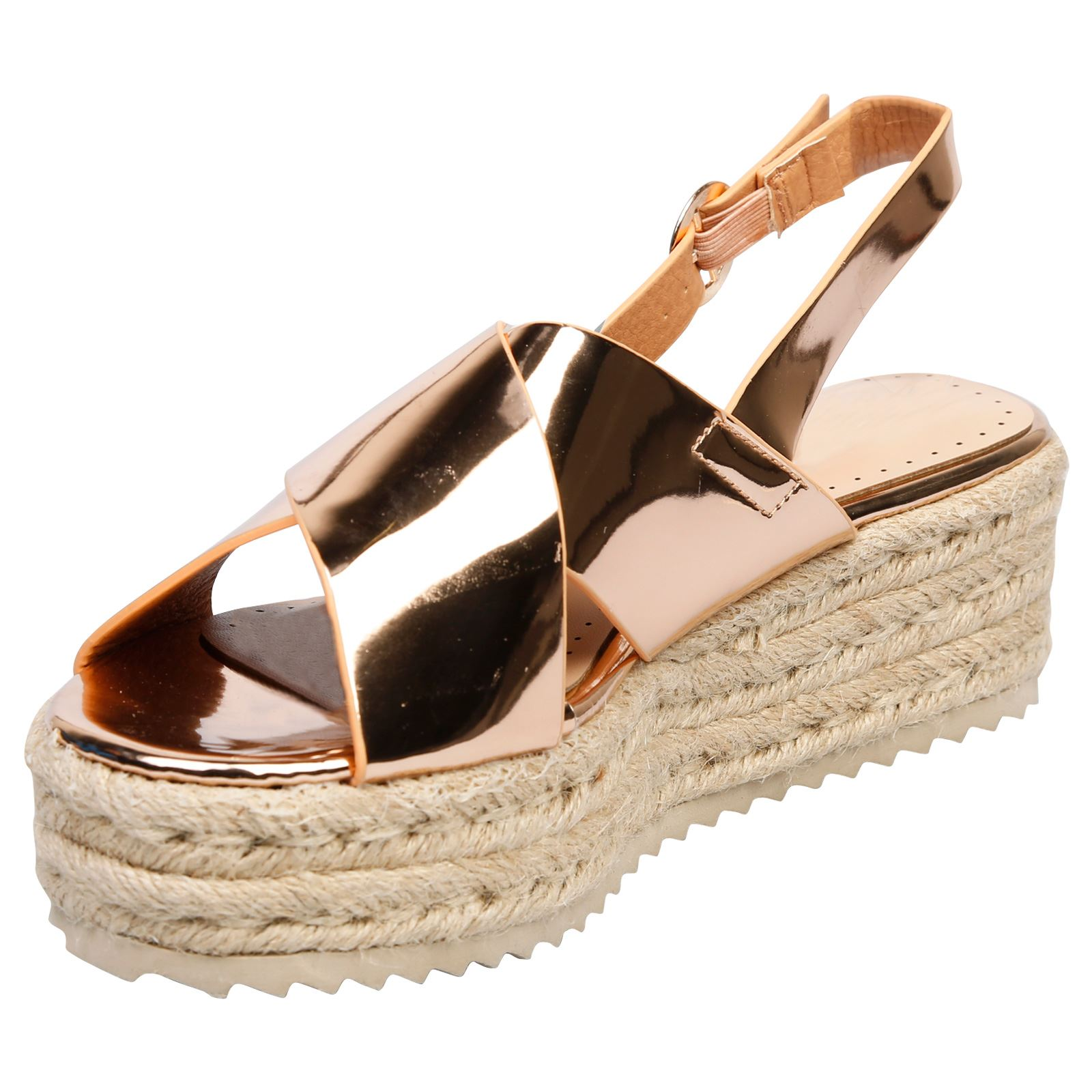 a2bc4effe96 Joanne Womens Flats Low Wedges Heels Platform Flatform Sandals ...