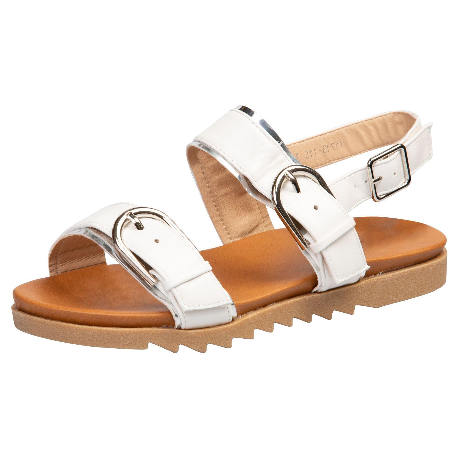 Zapatos-Para-Mujer-Damas-Tacon-Bajo-Tiras-Hebilla-Punta-Abierta-Verano-Playa-Tamano-Nuevo-Estilo