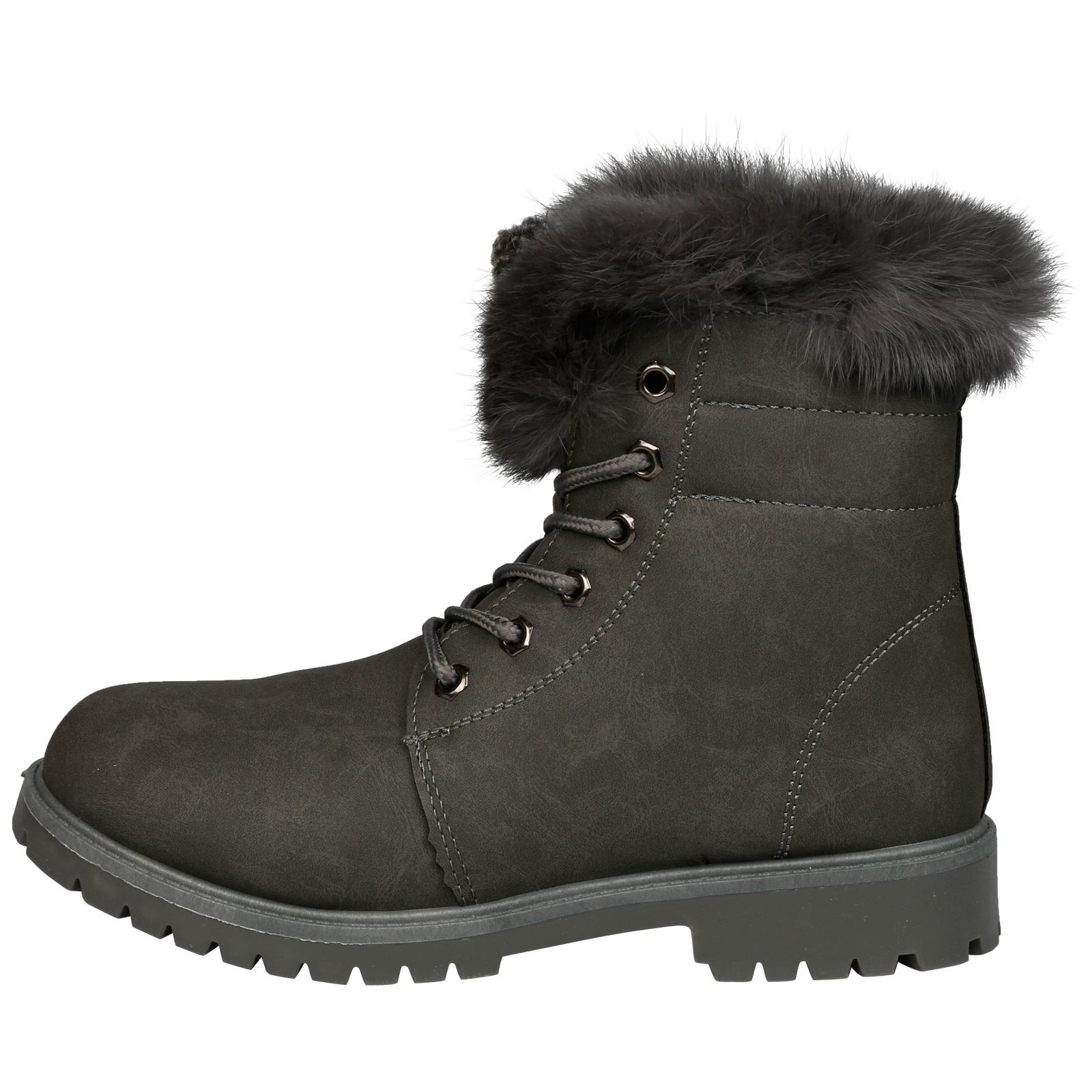 NEW-WOMEN-SHOES-LADIES-FUR-LINED-LOW-HEEL-LACE-UP-ANKLE-BOOTS-CASUAL-STYLE-SIZE thumbnail 20