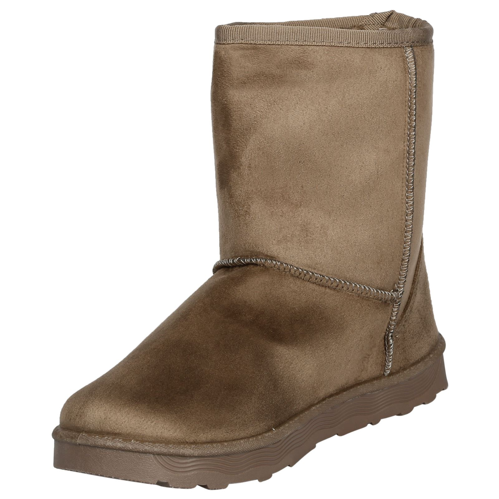 Paisleigh-Womens-Platfrom-Flat-Fur-Lined-Pull-On-Snug-Snow-Boots-Casual-Ladies thumbnail 15