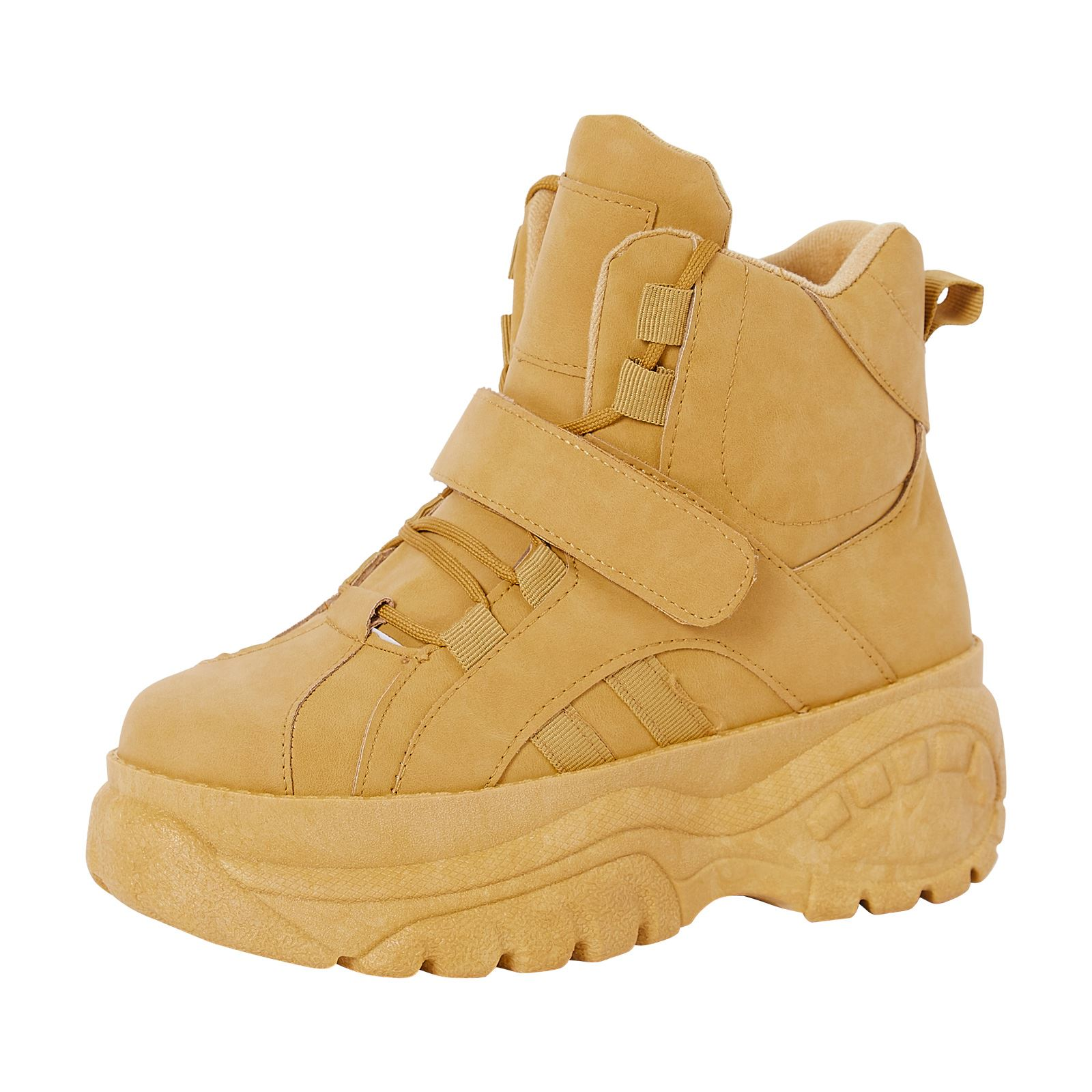 NEW-WOMENS-SHOES-LADIES-HI-TOP-CHUNKY-TRAINERS-TRENDY-SNEAKERS-CASUAL-SIZE-STYLE