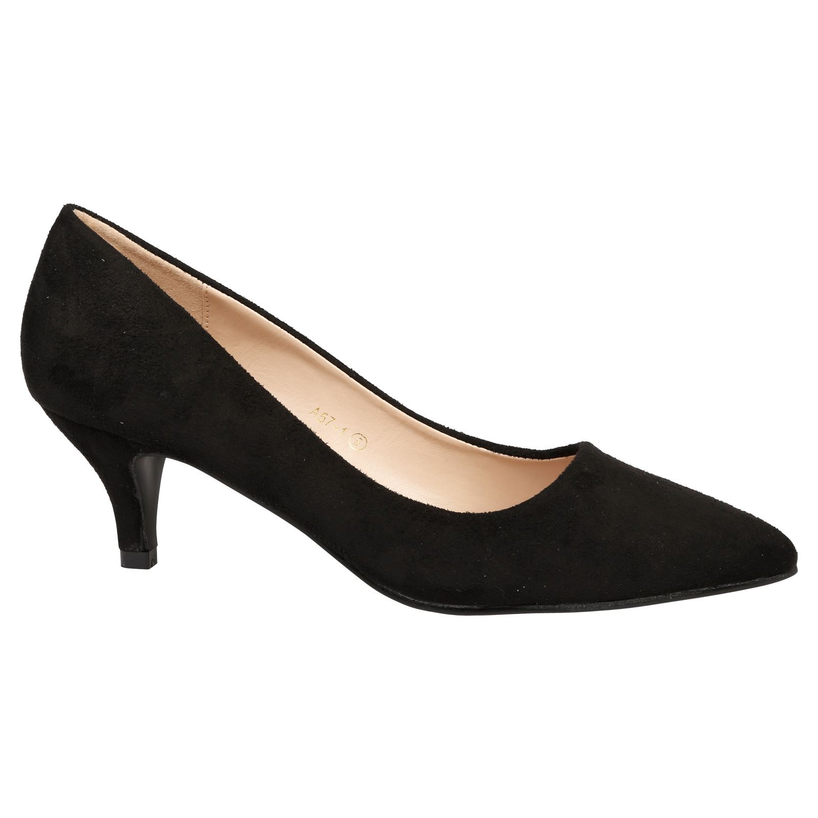 Womens Ladies Low Mid High Heel Pointed Court Smart Party Office Work Stiletto Shoes Pumps Size LT_7