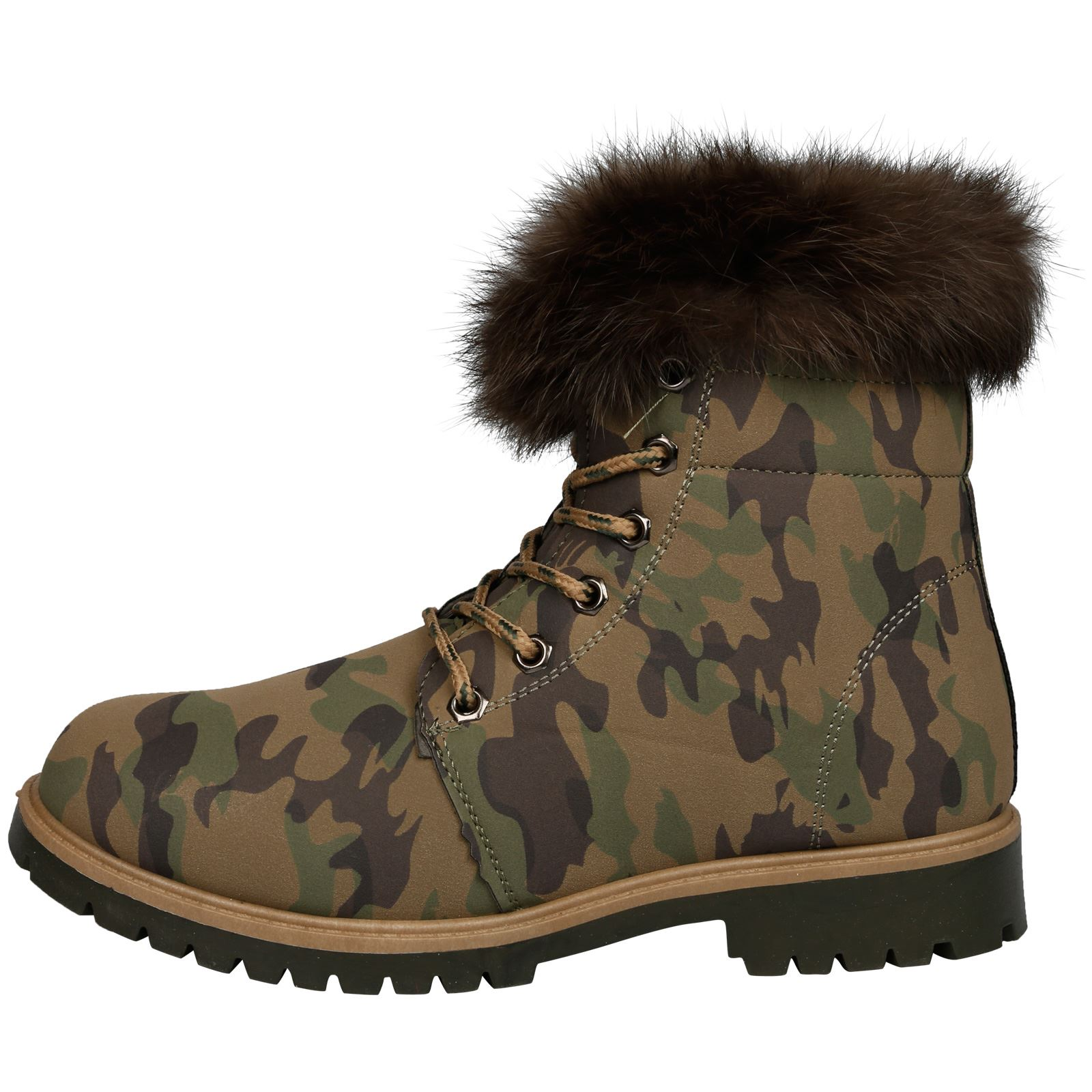 NEW-WOMEN-SHOES-LADIES-FUR-LINED-LOW-HEEL-LACE-UP-ANKLE-BOOTS-CASUAL-STYLE-SIZE thumbnail 4