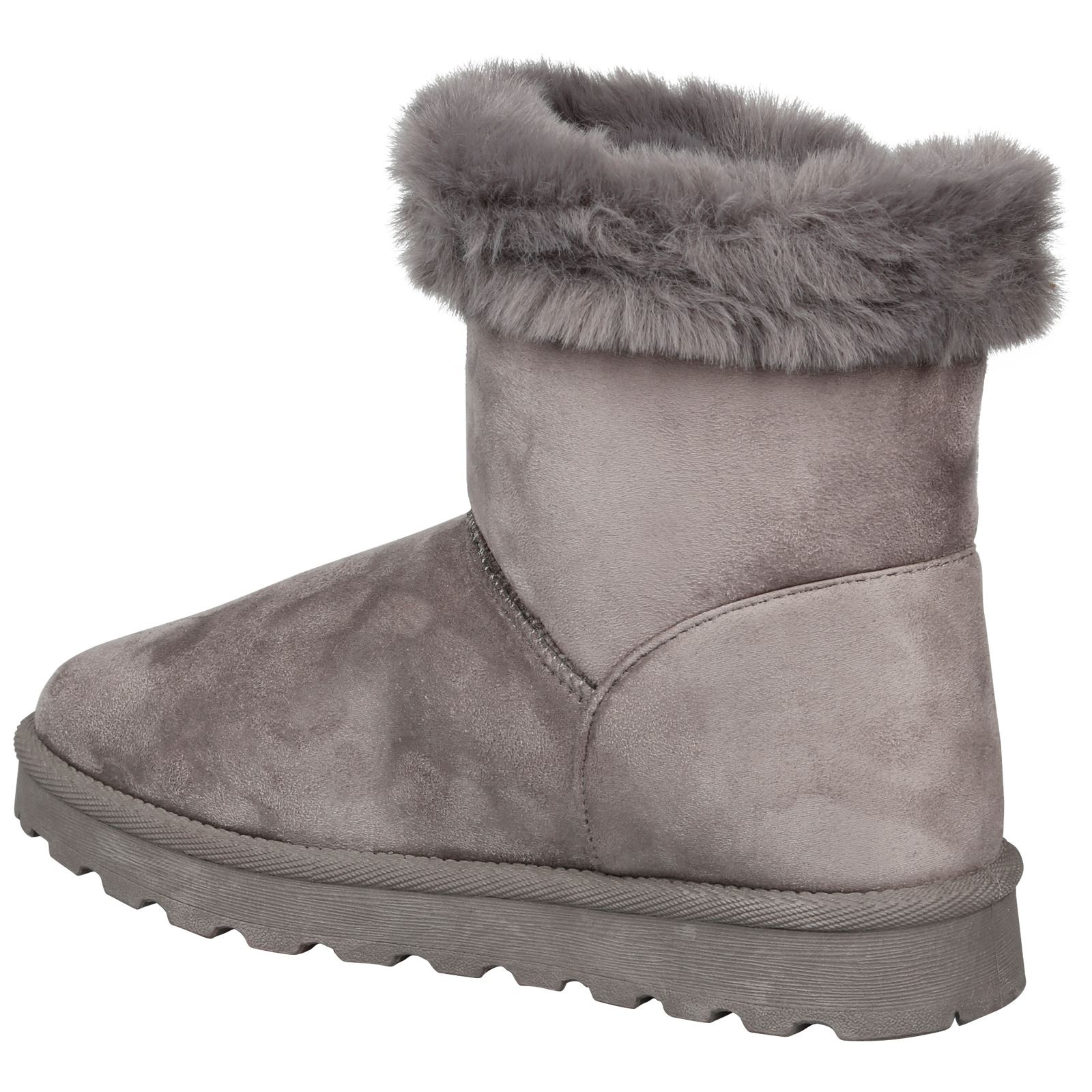 Eliana-Womens-Flatform-Fur-Lined-Flat-Snow-Ankle-Boots-Casual-Ladies-Size-Style thumbnail 13