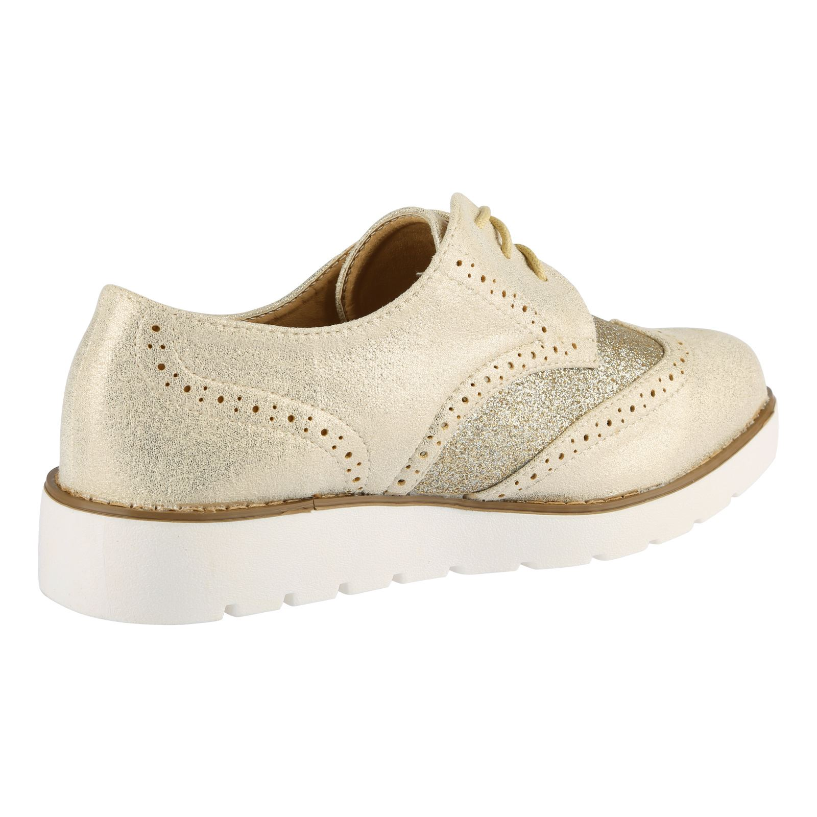Two Tone Oxford Shoes Womens