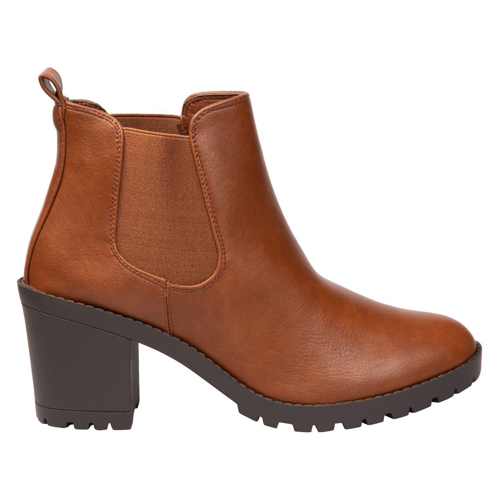 Amaya-Femme-Talon-Bloc-A-Enfiler-Chelsea-Style-Bottes-Femmes-Chaussures-Decontractees-Taille