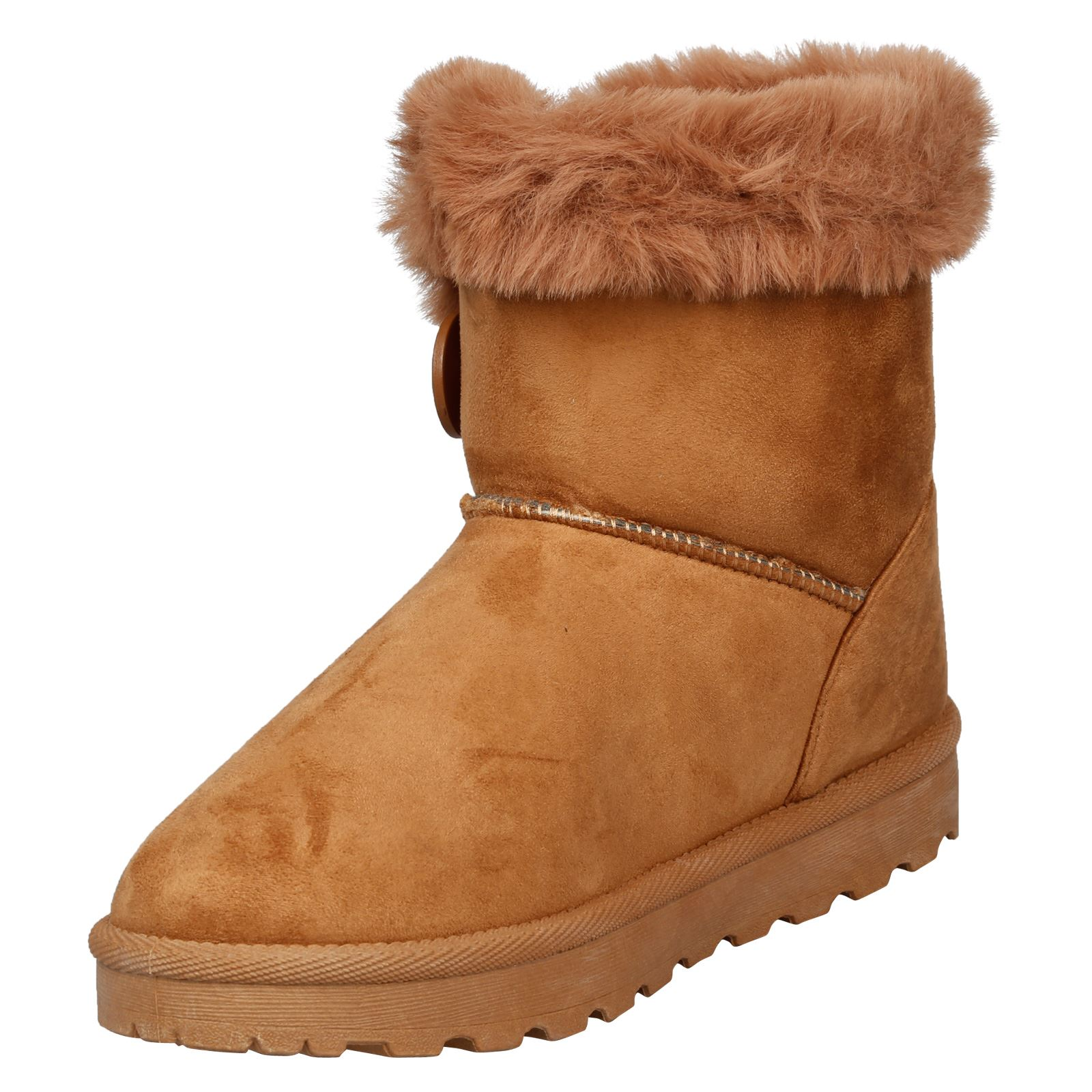 Eliana-Womens-Flatform-Fur-Lined-Flat-Snow-Ankle-Boots-Casual-Ladies-Size-Style thumbnail 8
