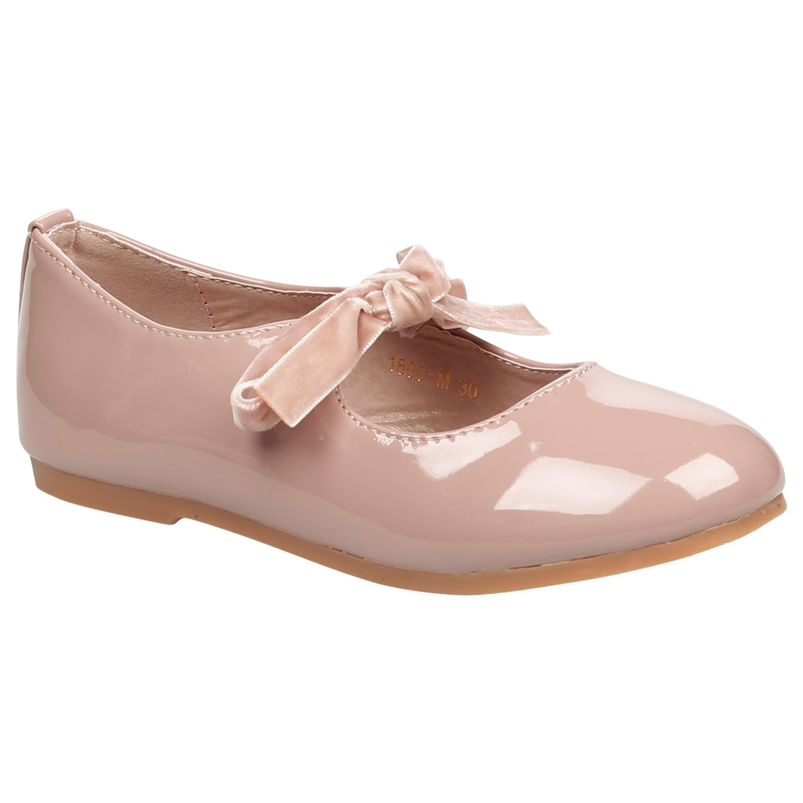 Peony Girls Kids Flat Low Heel Lace Up Ribbon Bow Mary Jane Shoes Childrens Size