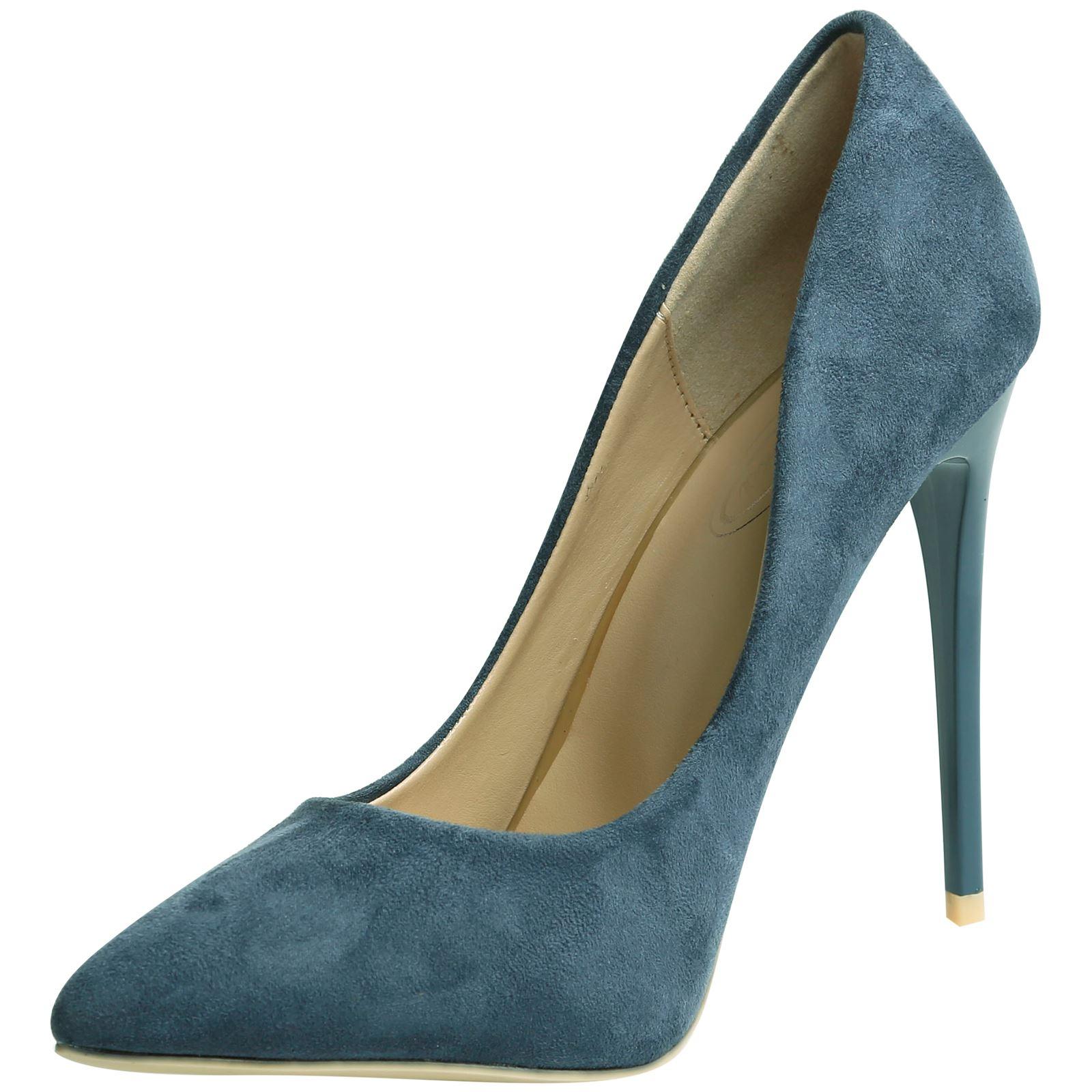 Danita Mujer Tacones De Aguja Tacones Altos En Punta Tribunal Zapatos Damas Bombas Tamaño Nuevo
