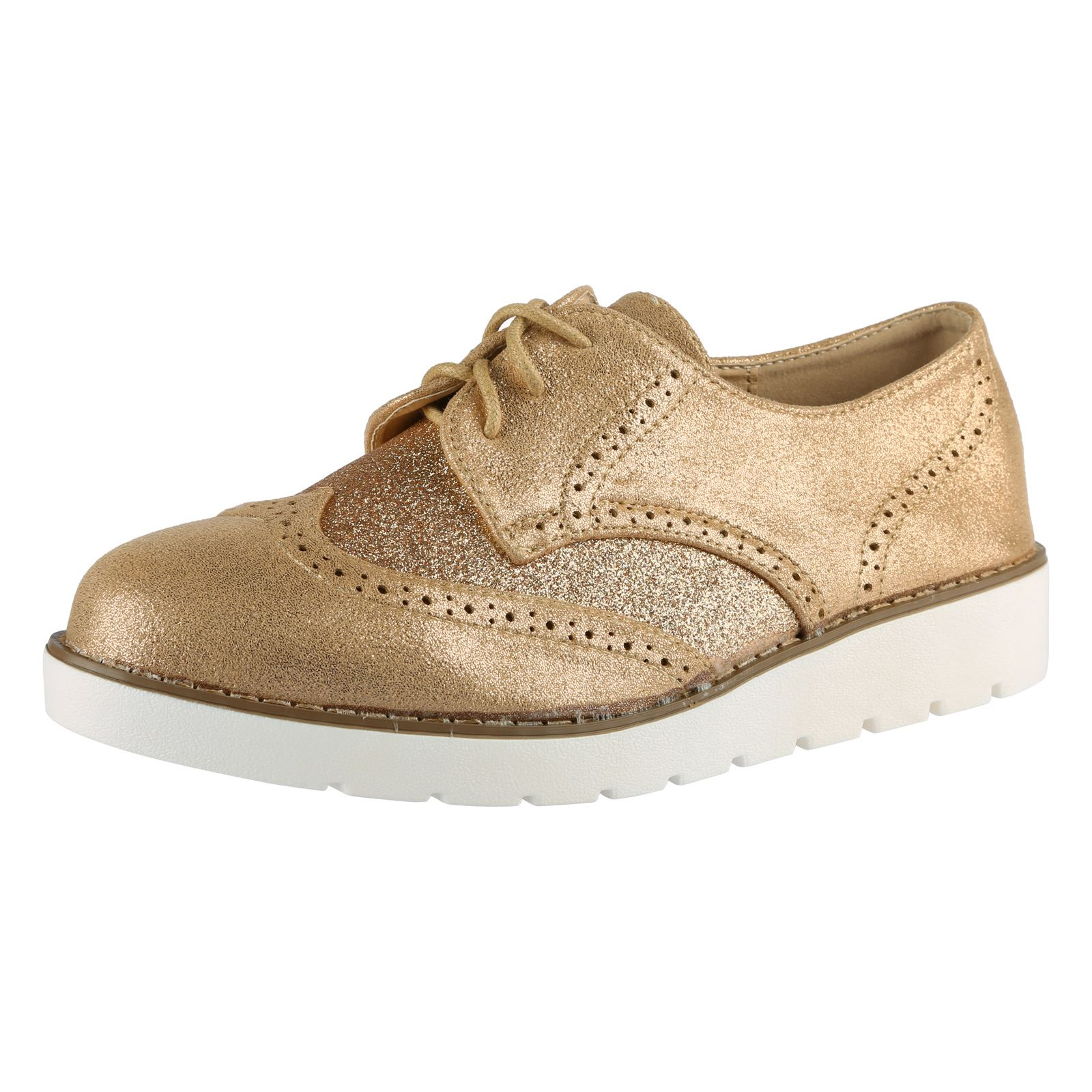 Ladies Two Tone Brogues Shoes