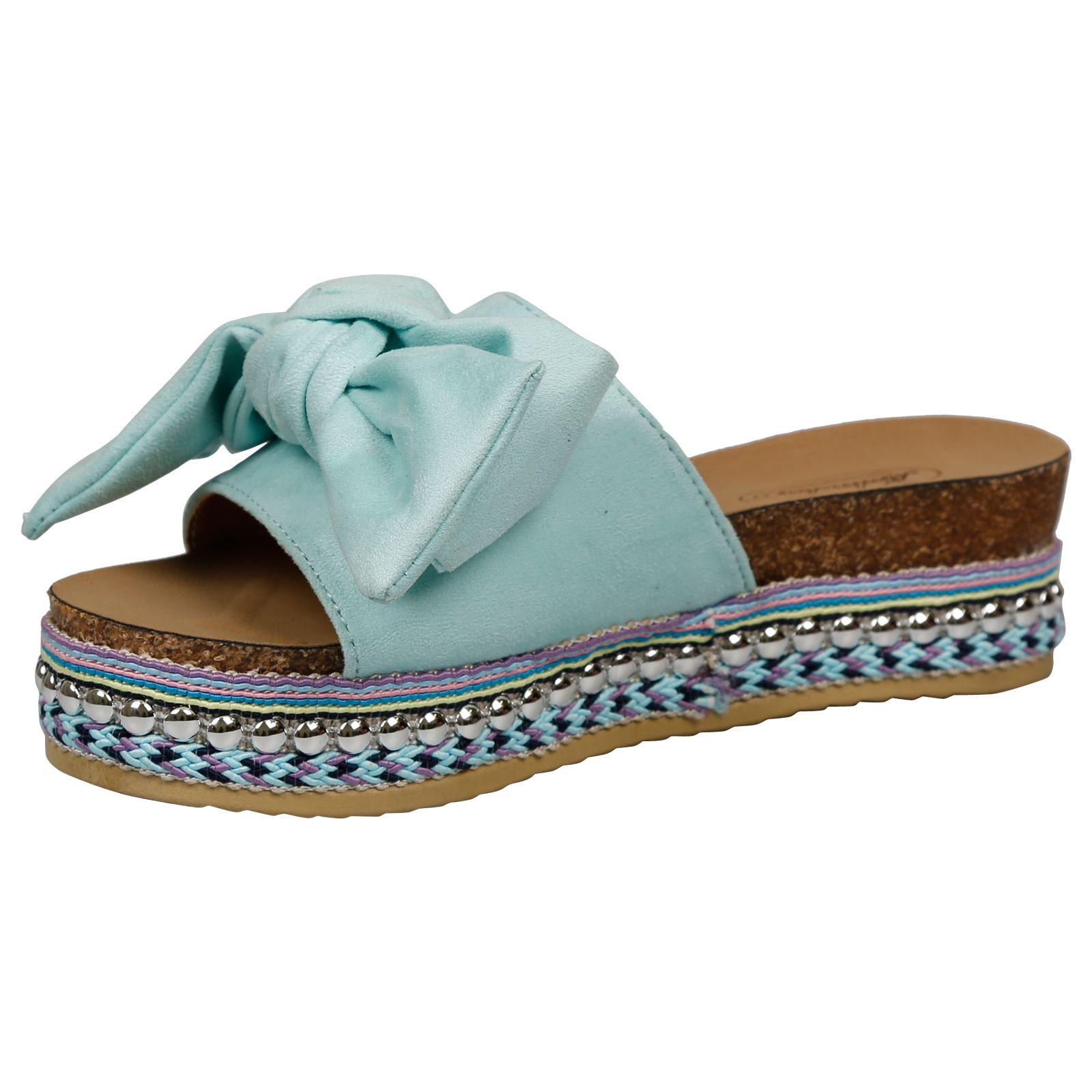 13231a2f8 Kirby Womens Flats Platforms Studded Boho Open Toe Sandals Ladies ...