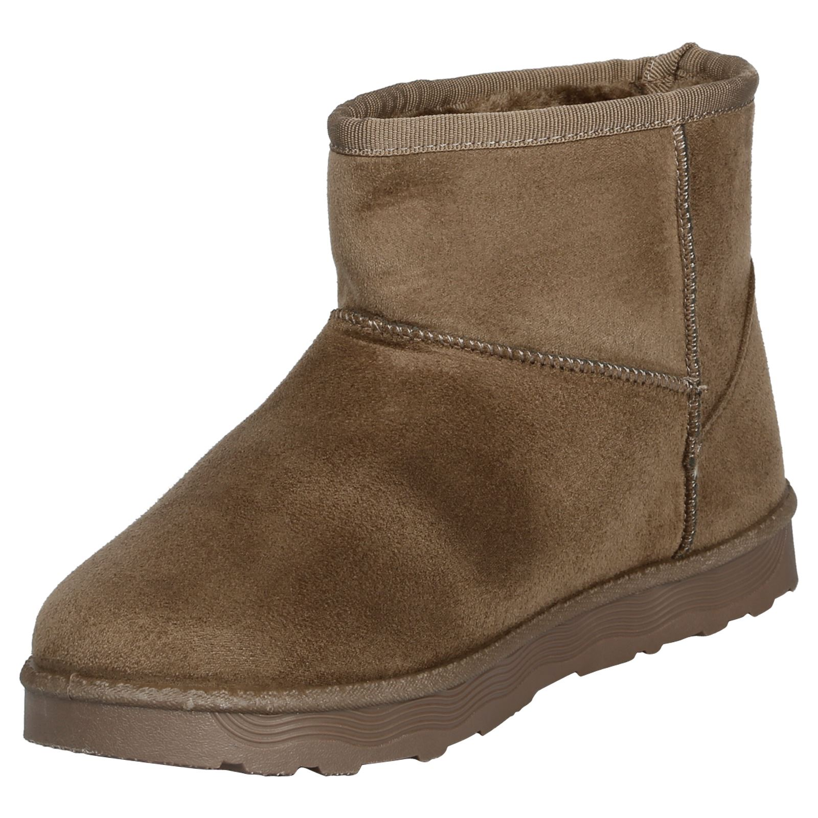 Naomi-Womens-Platfrom-Flat-Fur-Lined-Pull-On-Snug-Snow-Boots-Casual-Ladies-Size thumbnail 16