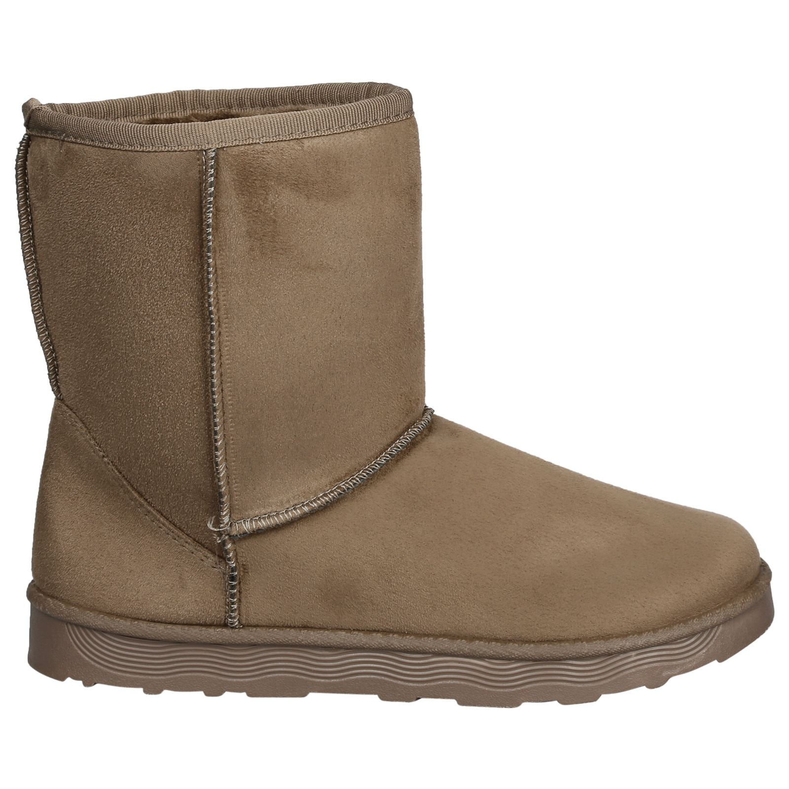 Paisleigh-Womens-Platfrom-Flat-Fur-Lined-Pull-On-Snug-Snow-Boots-Casual-Ladies thumbnail 14