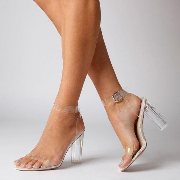 Tacon De Zapatos Sandalias T1ujc3lfk Con Mujer Topshop Transparente WH2e9DIEY