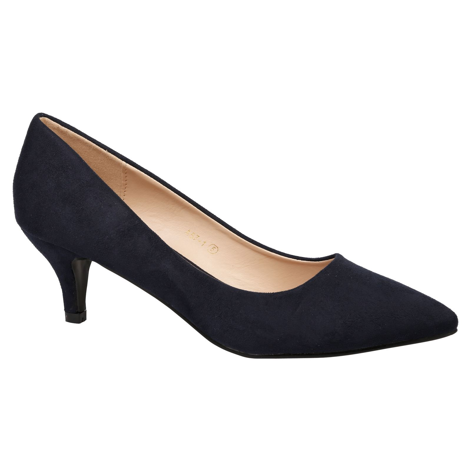 Miranda Womens Low Mid Kitten Heels Slip On Court Shoes Ladies Pumps Office  Size; Picture 2 of 5 ...