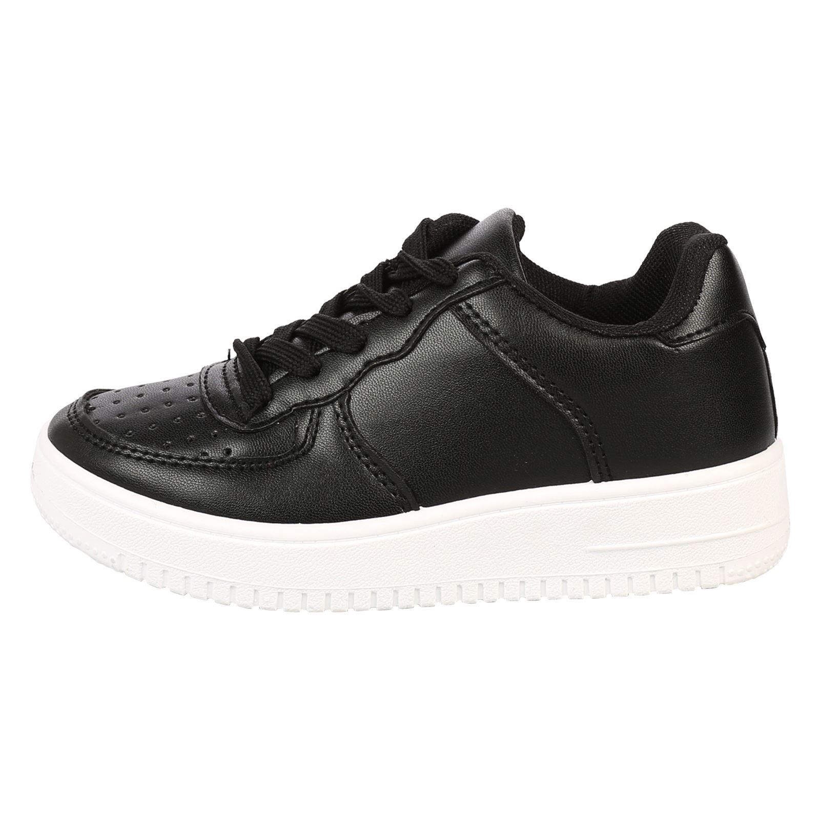 Zapatos de chicas Niños Childrens con Cordones Entrenadores bombas Deportes Escuela Niños Tamaño Nuevo