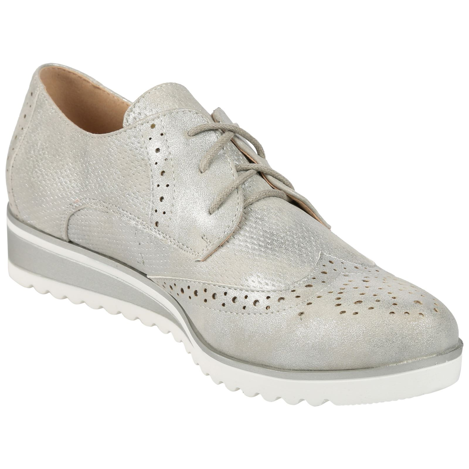 Silver Brogue Shoes Ladies Size