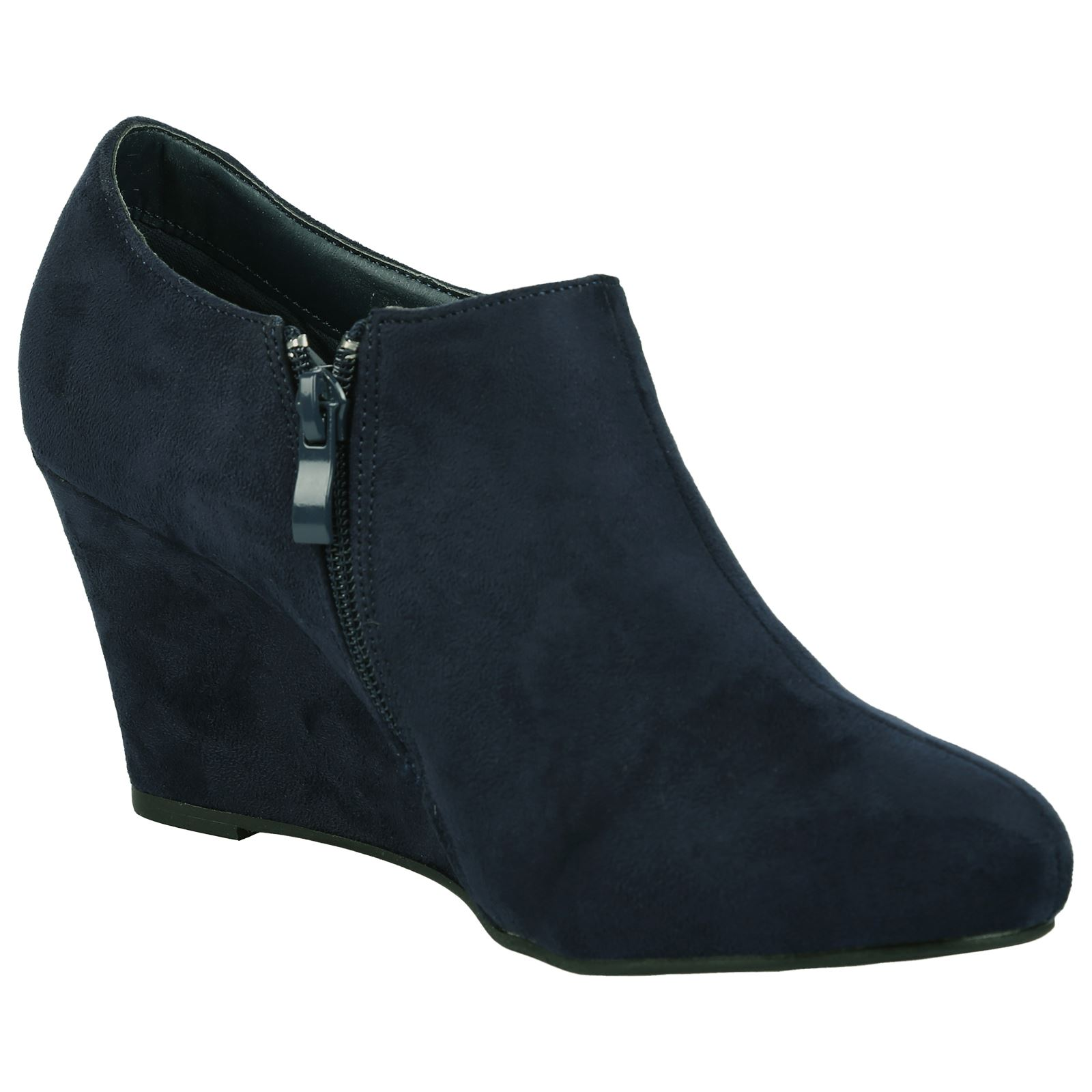 WOMENS SHOES LADIES ANKLE BOOTS BOOTIES WEDGES HIGH HEELS SMART CASUAL SIZE NEW
