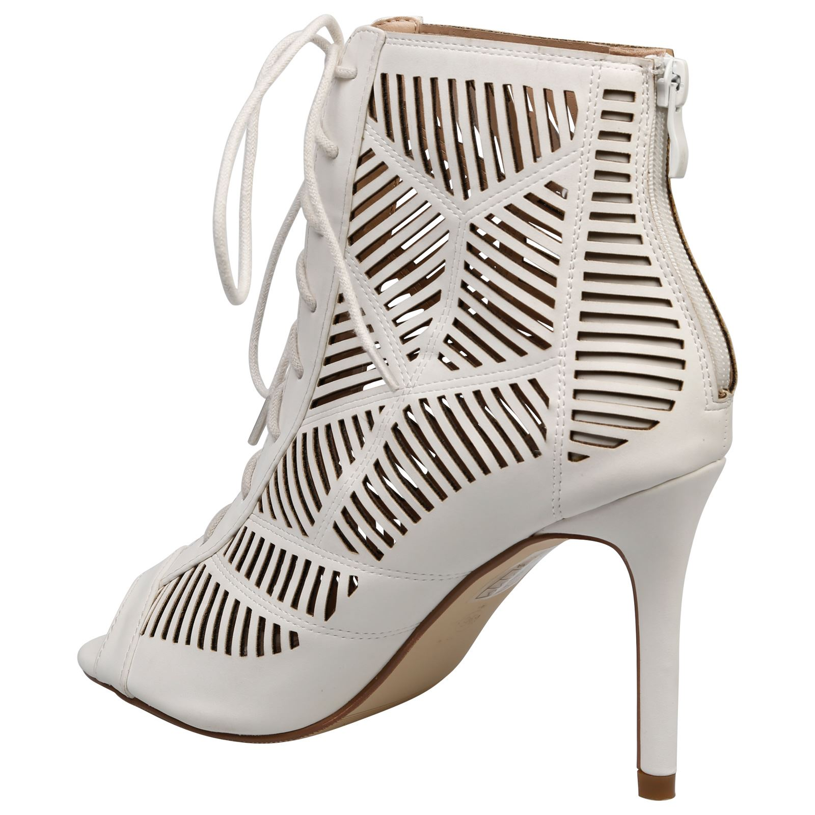 Anais-Womens-High-Heels-Stilettos-Lace-Up-Peep-Toe-Ankle-Boots-Ladies-Shoes-Size thumbnail 16