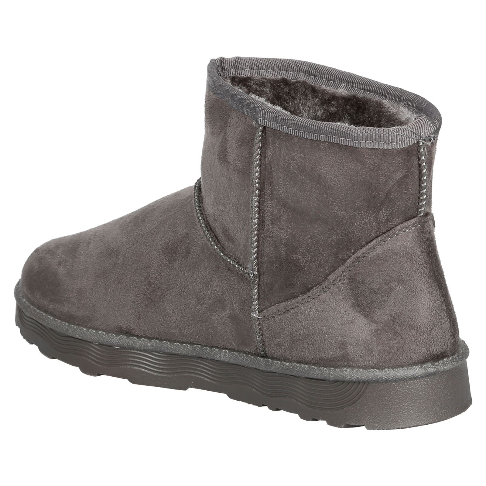 Naomi-Womens-Platfrom-Flat-Fur-Lined-Pull-On-Snug-Snow-Boots-Casual-Ladies-Size thumbnail 13