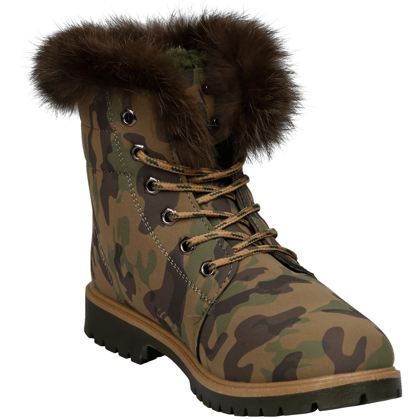 NEW-WOMEN-SHOES-LADIES-FUR-LINED-LOW-HEEL-LACE-UP-ANKLE-BOOTS-CASUAL-STYLE-SIZE thumbnail 5