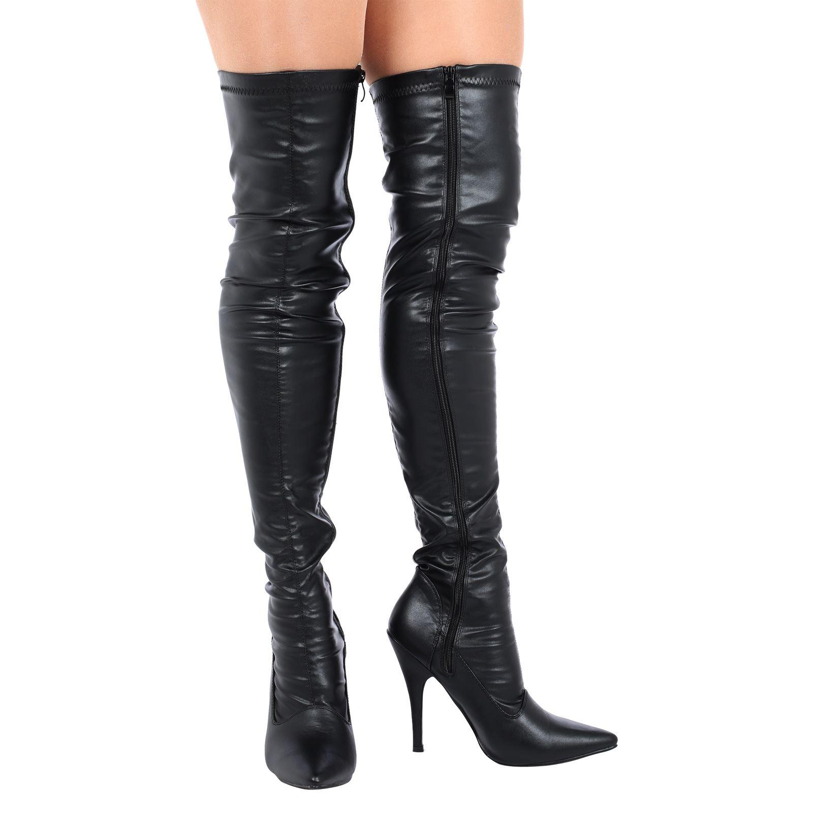 lucille womens stiletto heels zip up thigh